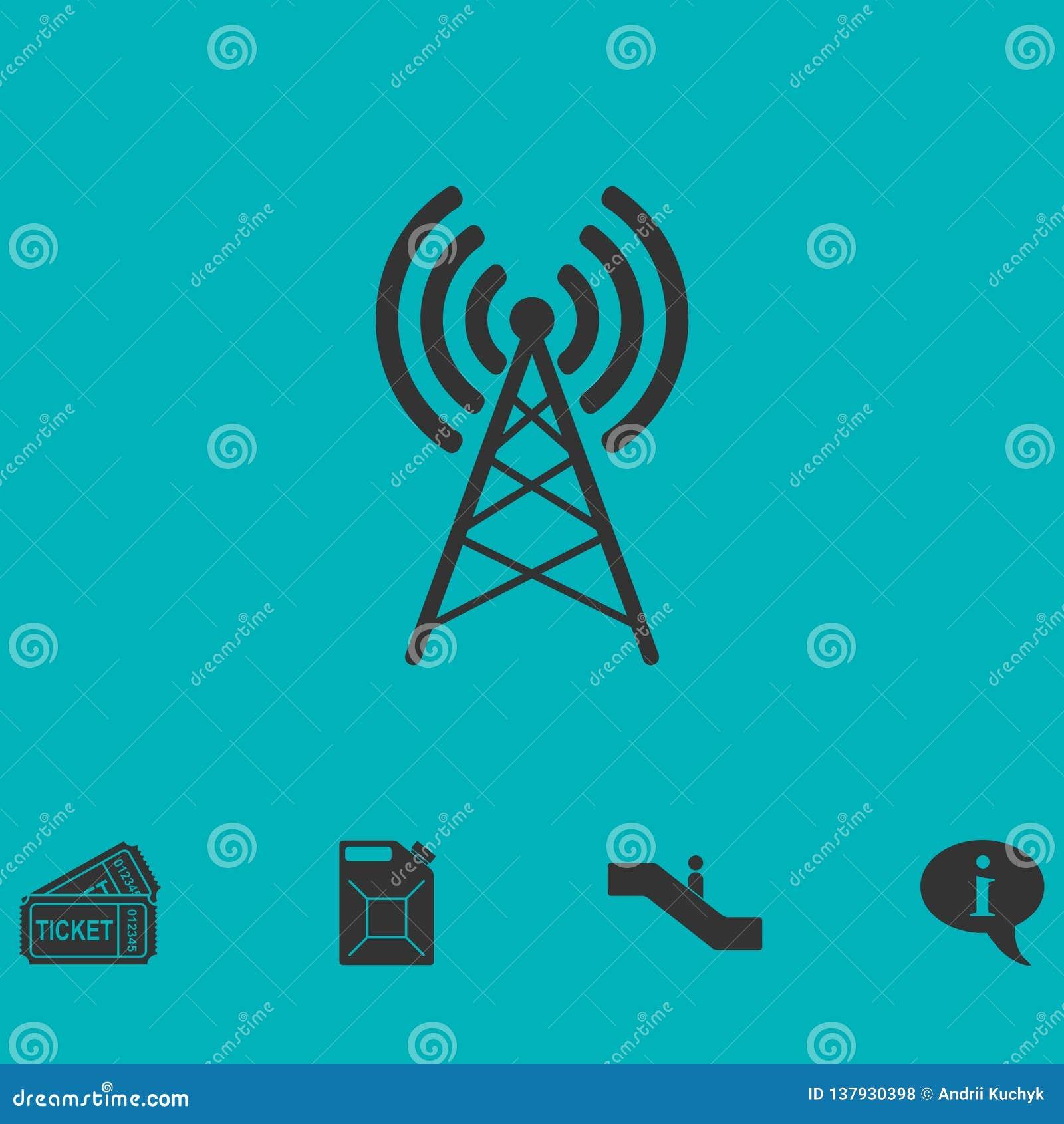 Ícone da antena liso