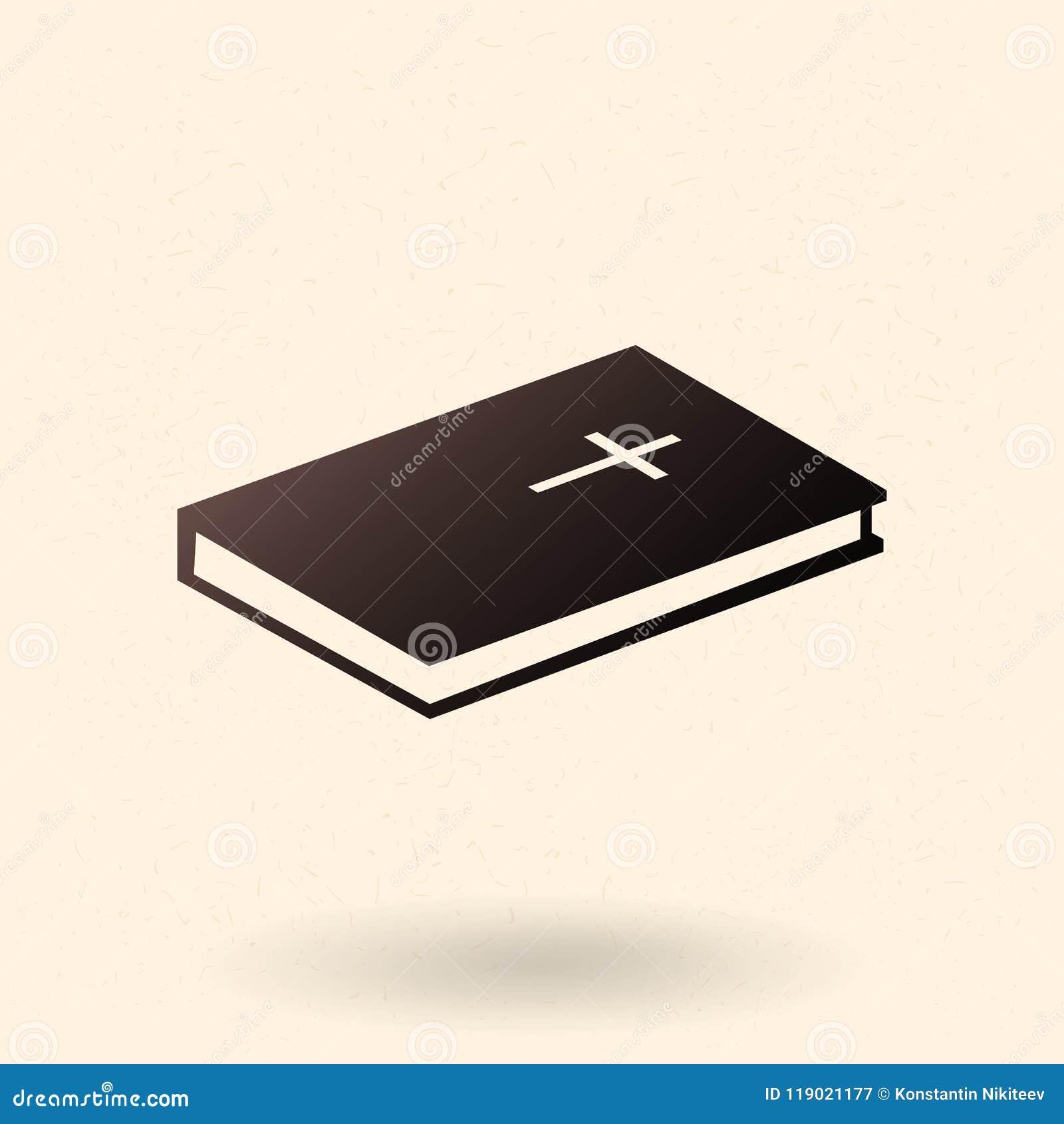 Ícone da Bíblia Sagrada do vetor único Christian Book Pictogram