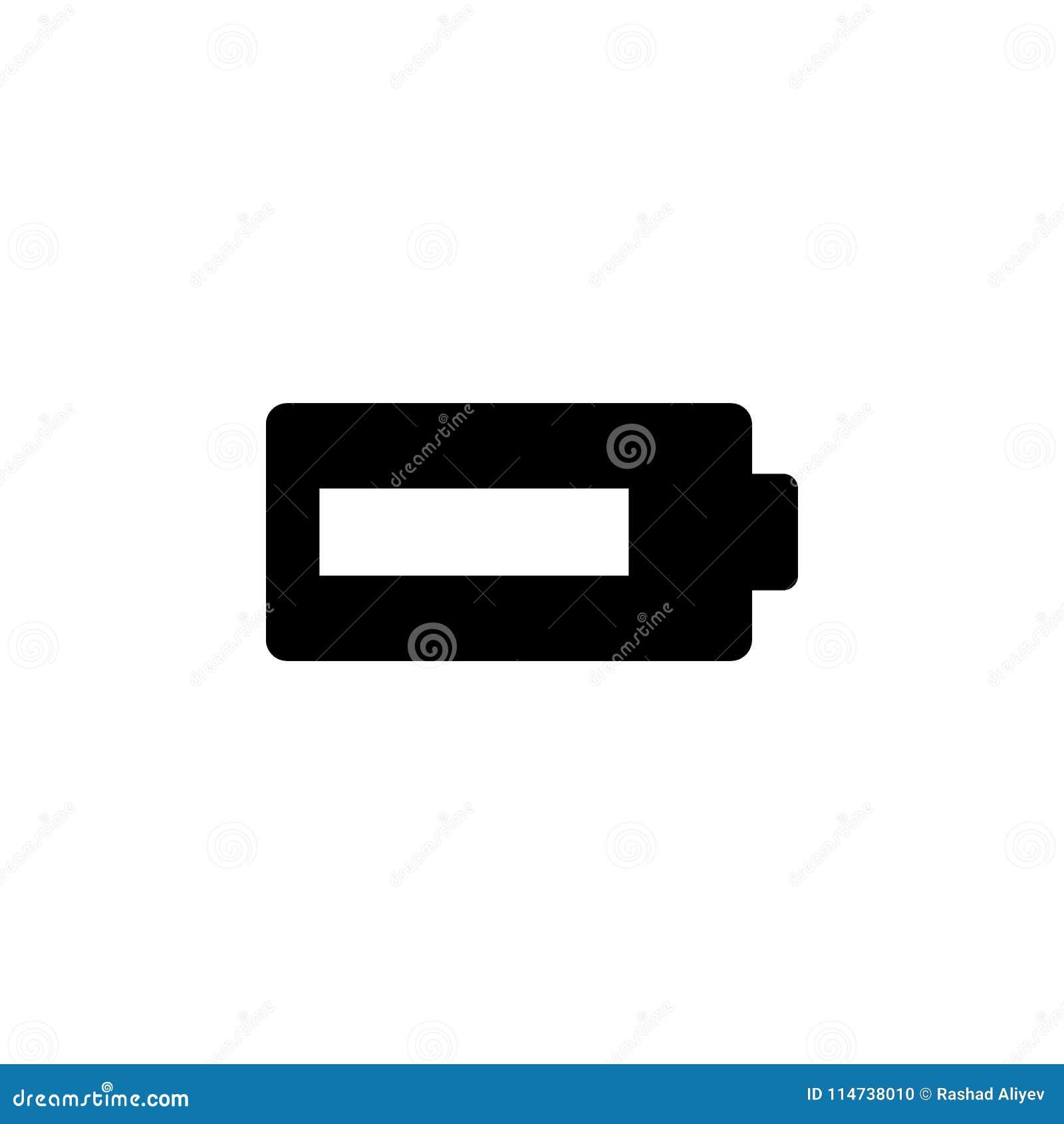 Ícone da bateria Elemento do ícone minimalistic para apps móveis do conceito e da Web Sinais e ícone para Web site, Web de da col