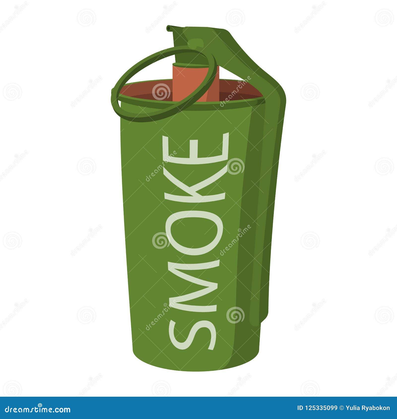 Icone Da Bomba De Fumo Da Granada De Mao Ilustracao Stock