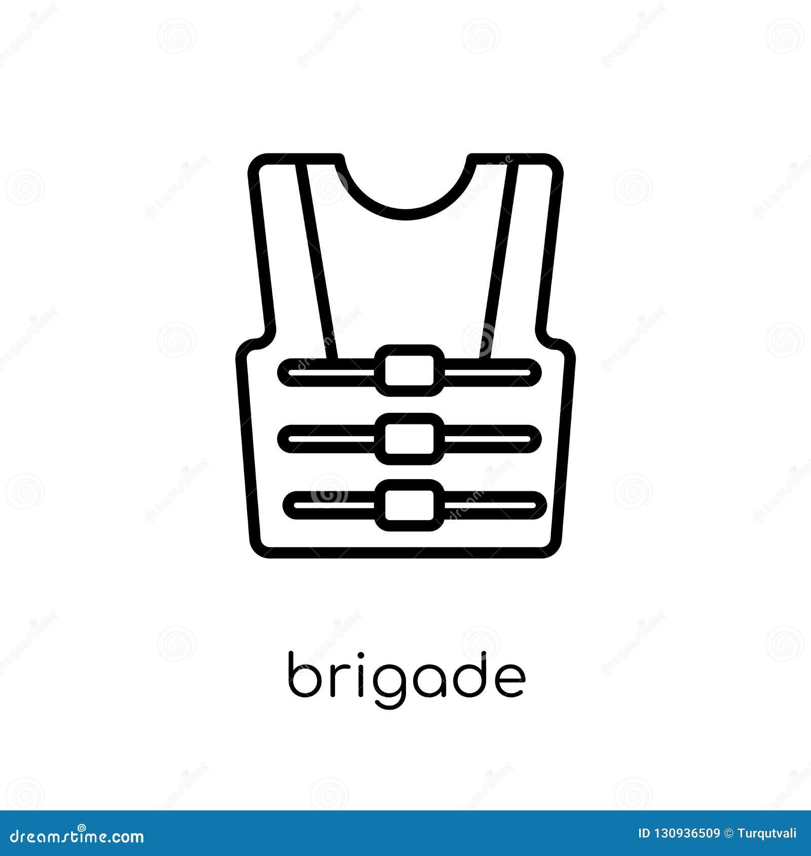 ícone da brigada da coleção do exército