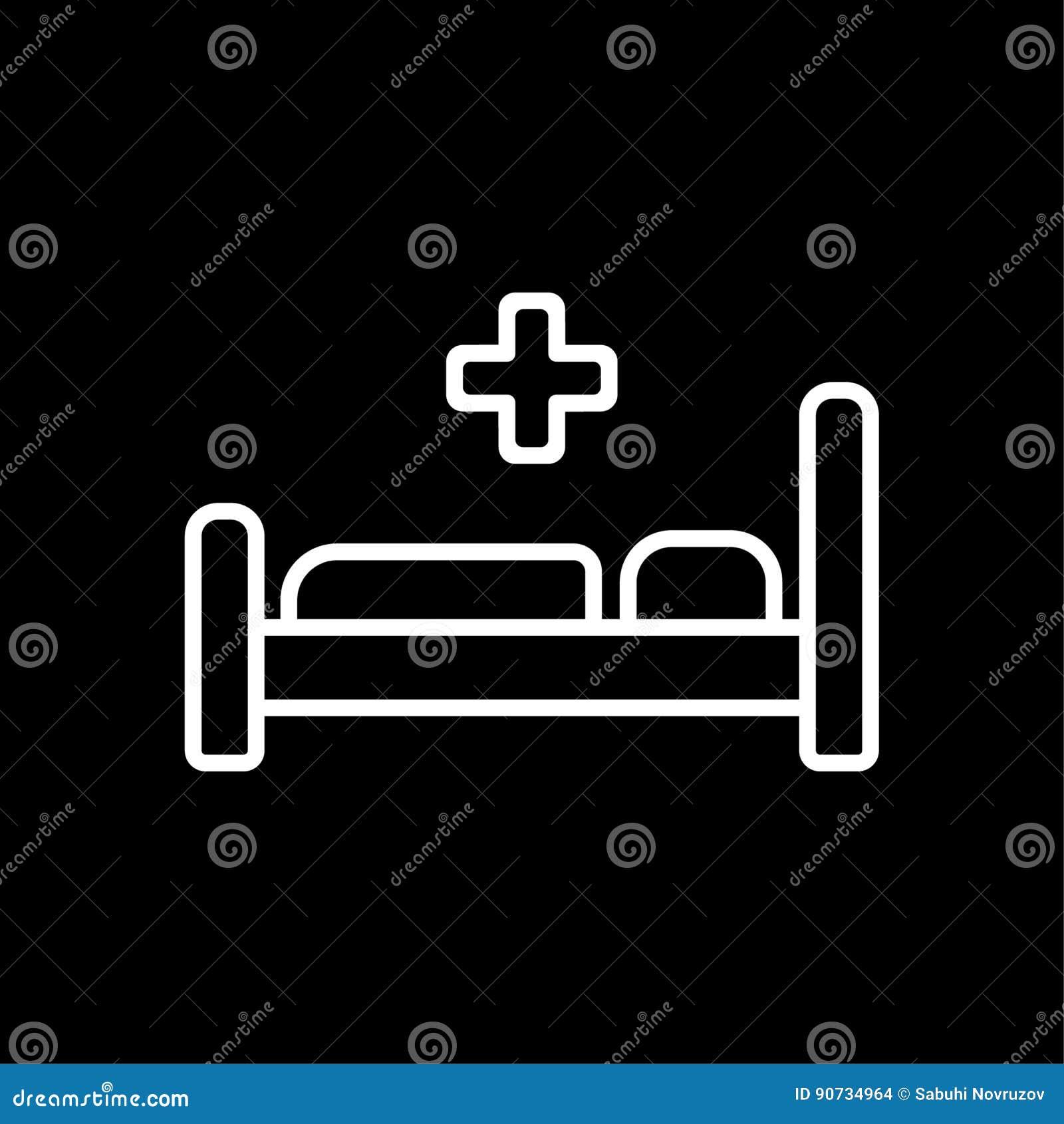 Cone da cama de hospital smbolo ilustrao lisa do vetor cone da cama de hospital smbolo ilustrao lisa do vetor eps 10 ccuart Gallery