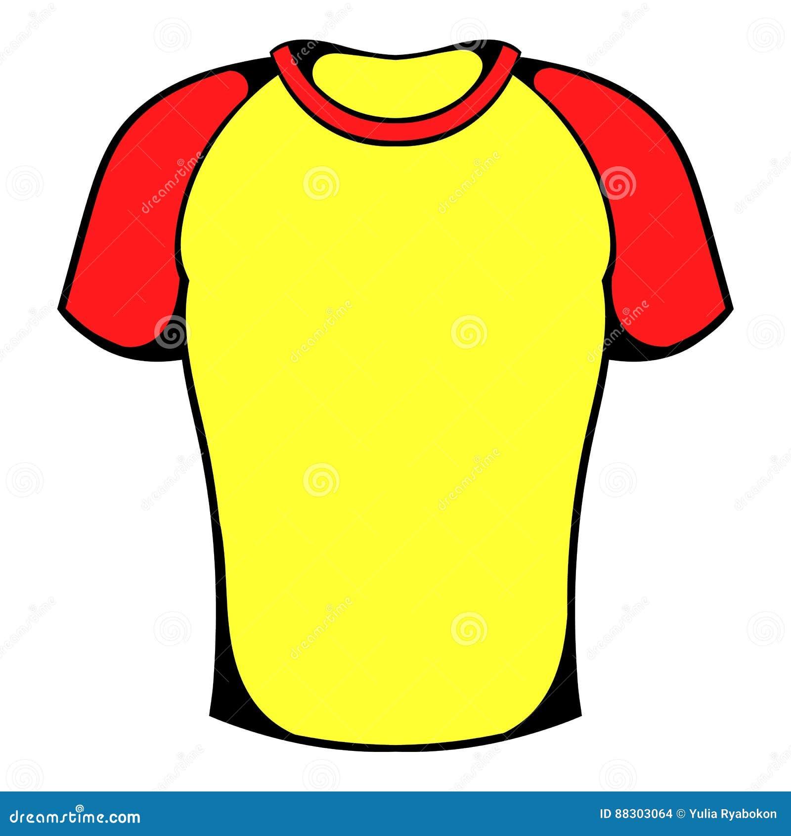 4d917a0b8b479 O ícone da camisa de esporte no ícone no estilo dos desenhos animados  isolou a ilustração do vetor