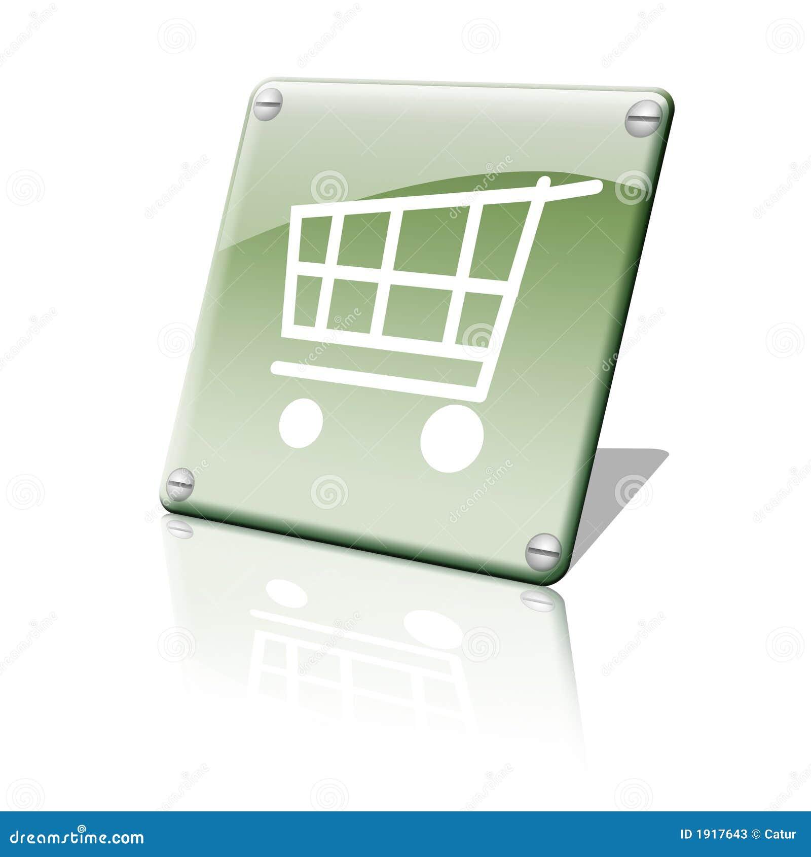 Ícone da carta da compra
