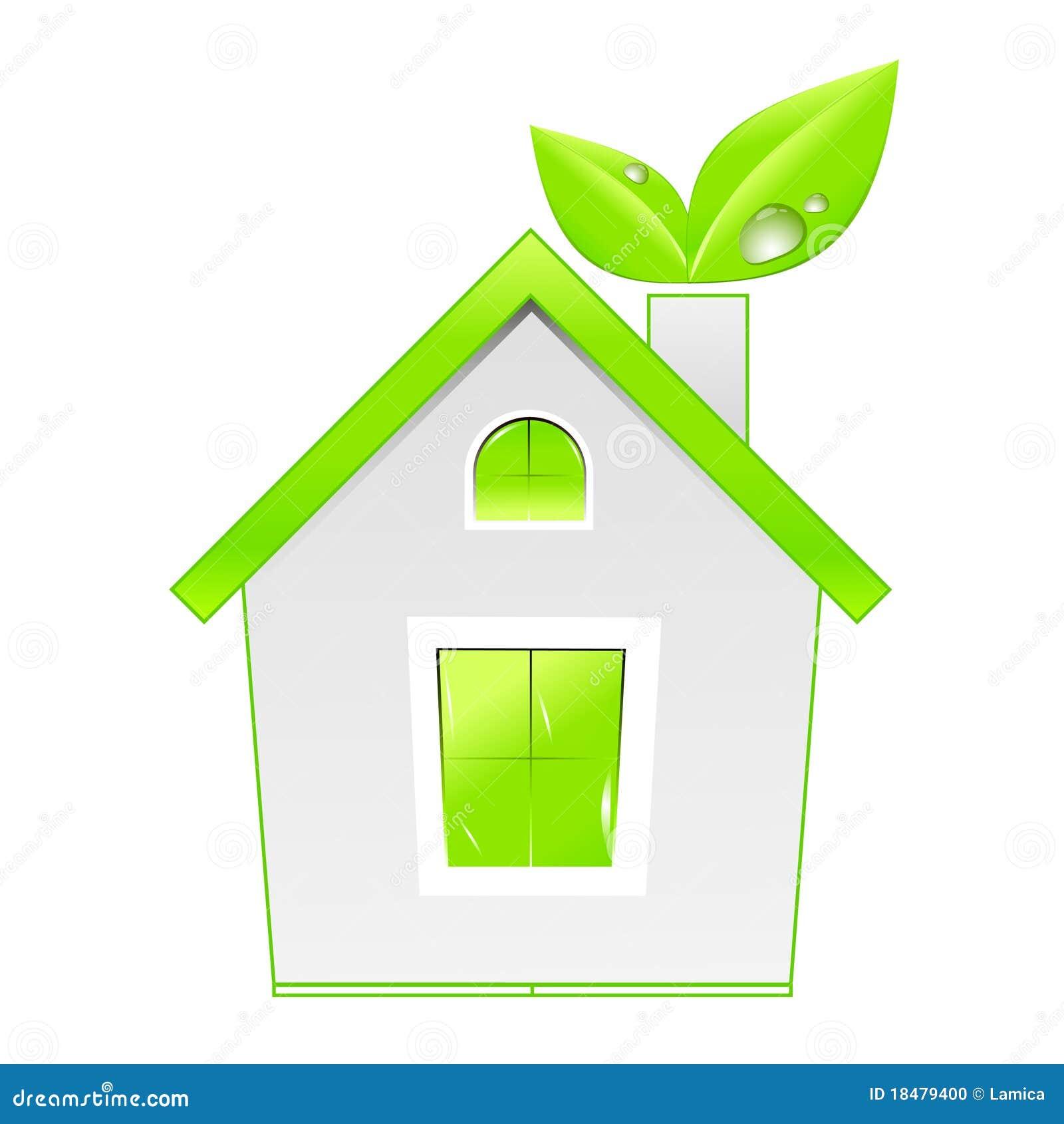 Cone da casa verde conceito da ecologia foto de stock for Design eco casa verde