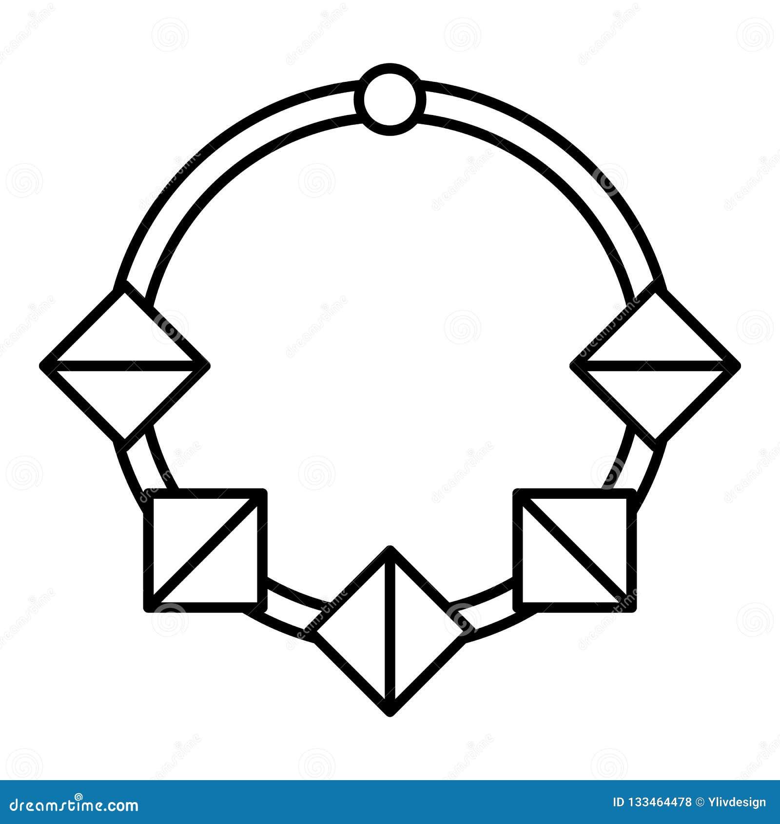 Ícone da colar da forma, estilo do esboço