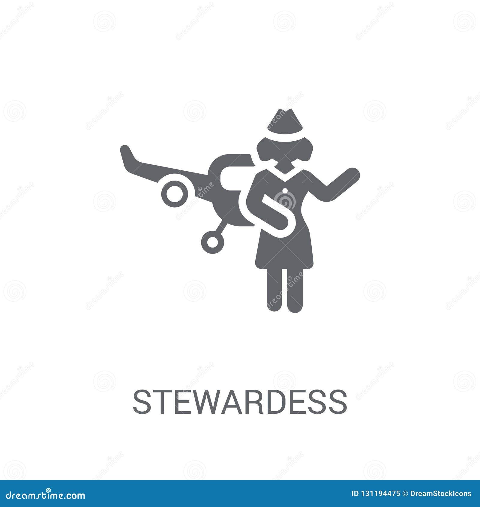 Ícone da comissária de bordo