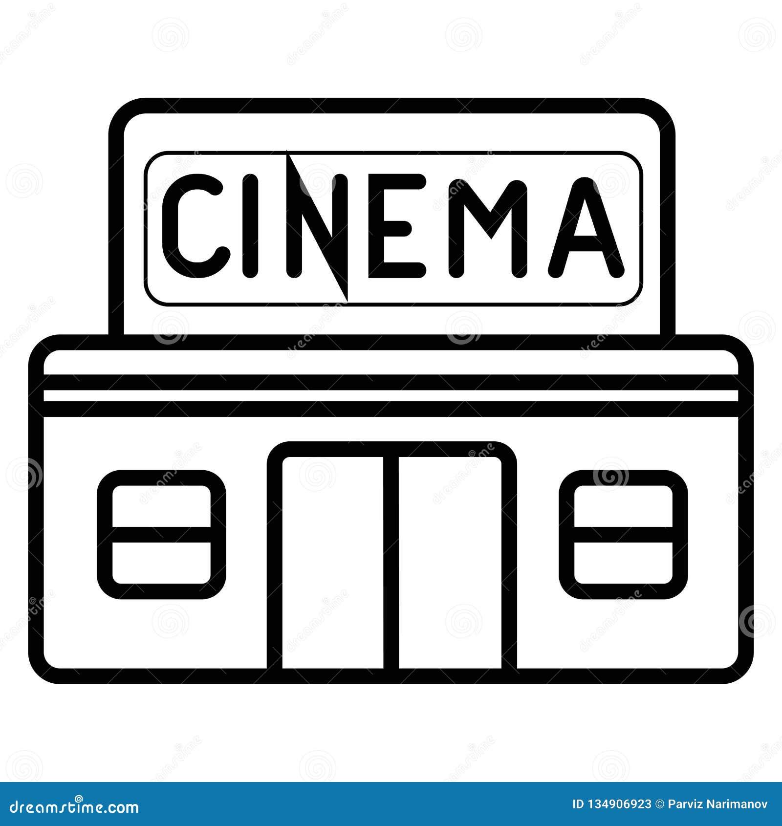 Ícone da construção do cinema