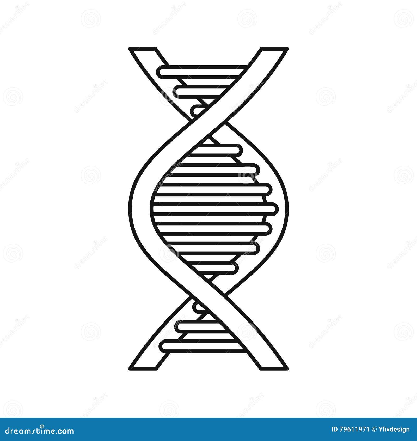Ícone da costa do ADN, estilo do esboço