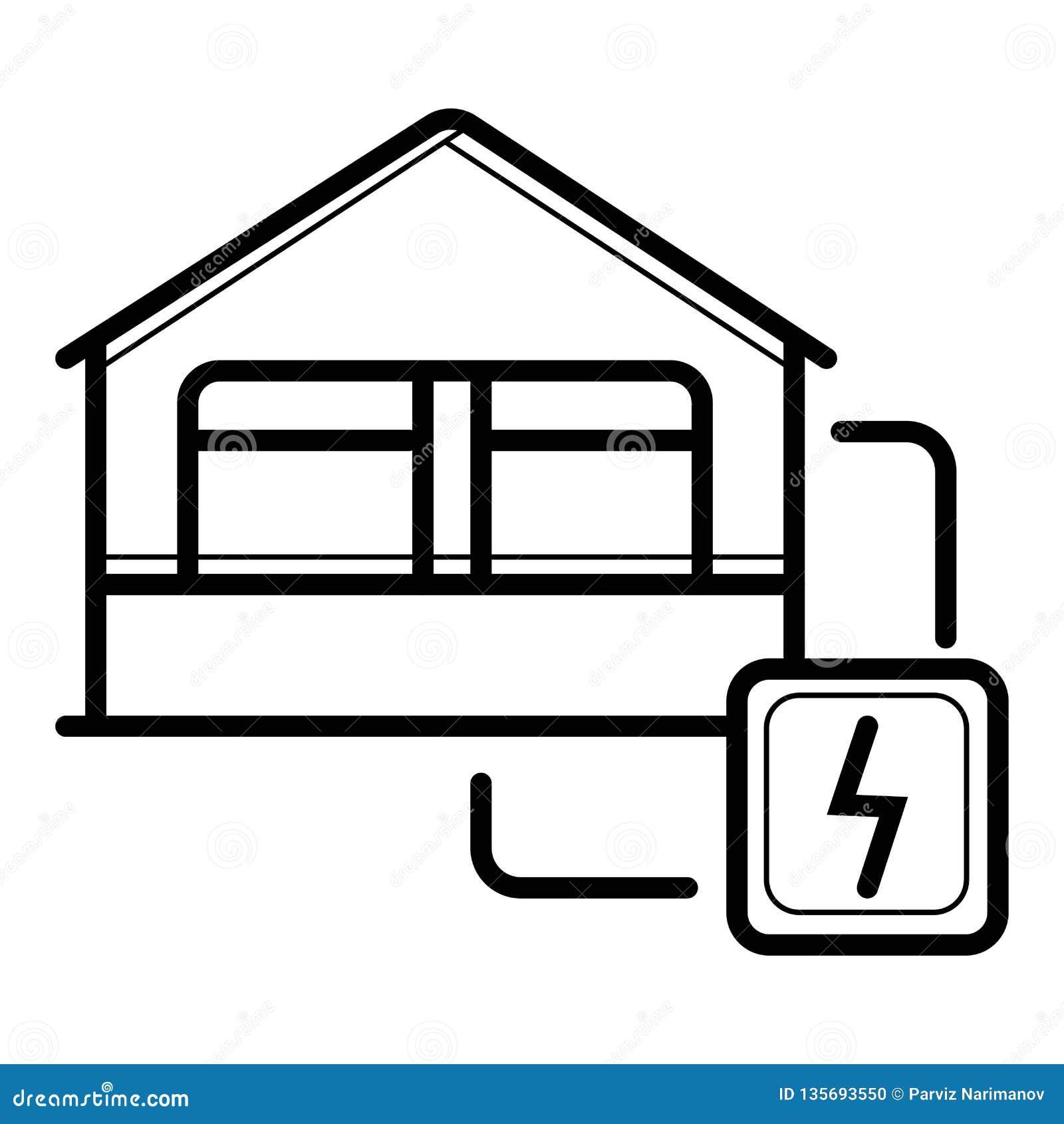 Ícone da eletricidade da casa