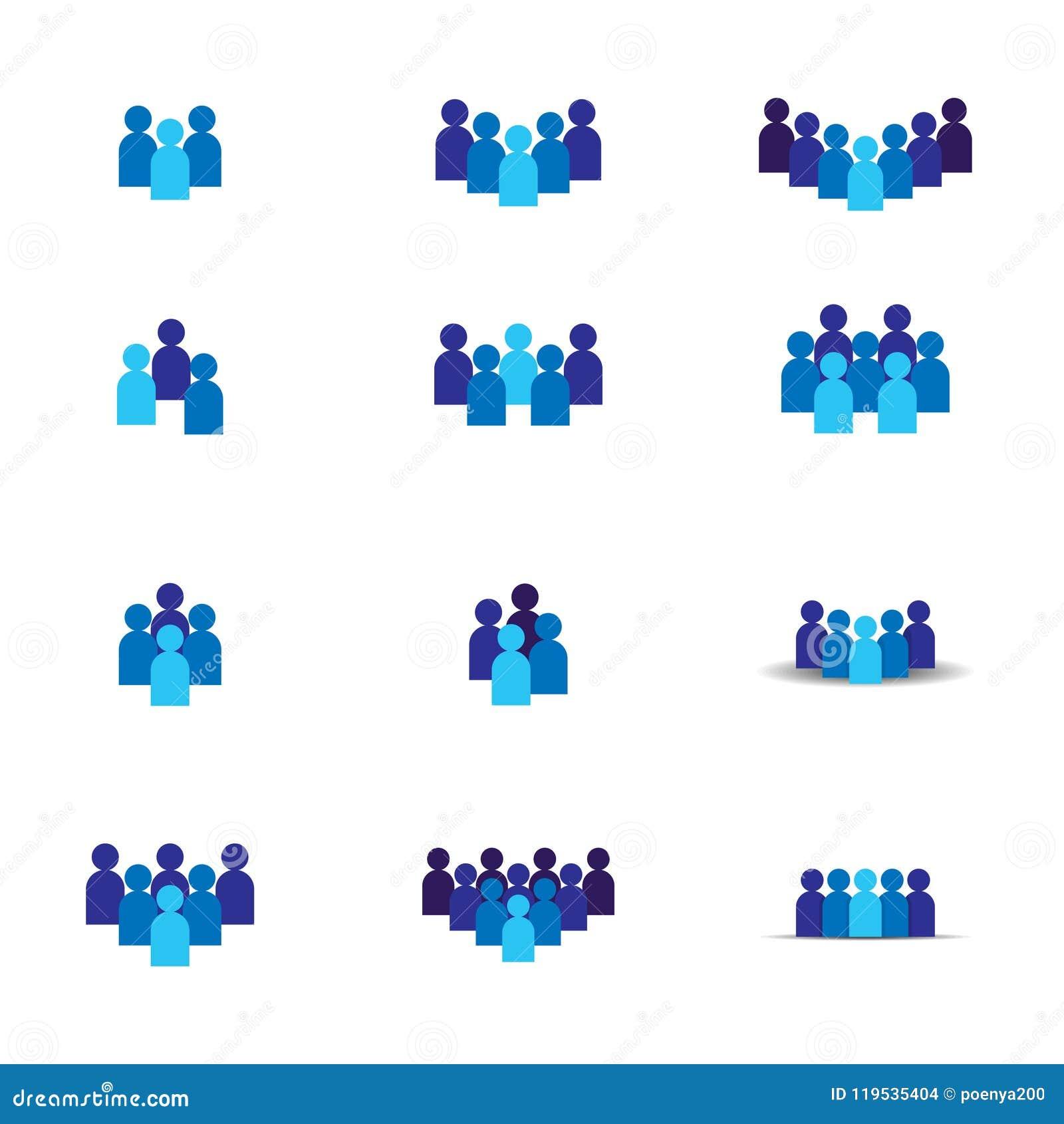 Ícone da equipe dos povos Símbolo social do logotipo do grupo da rede Liderança ou conceito da comunidade