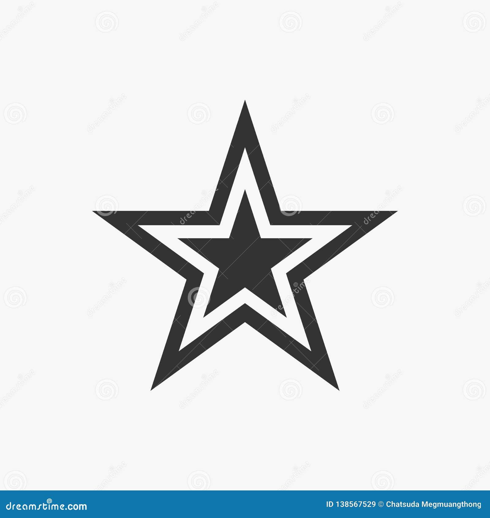 Ícone da estrela, céu, noite, voto