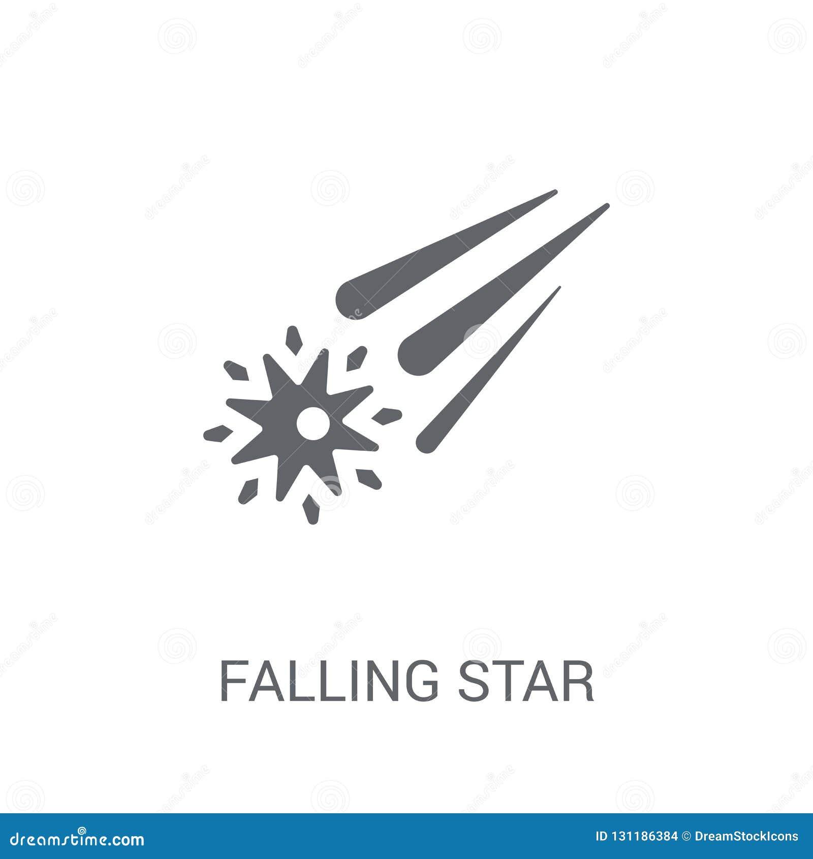 Ícone da estrela de queda