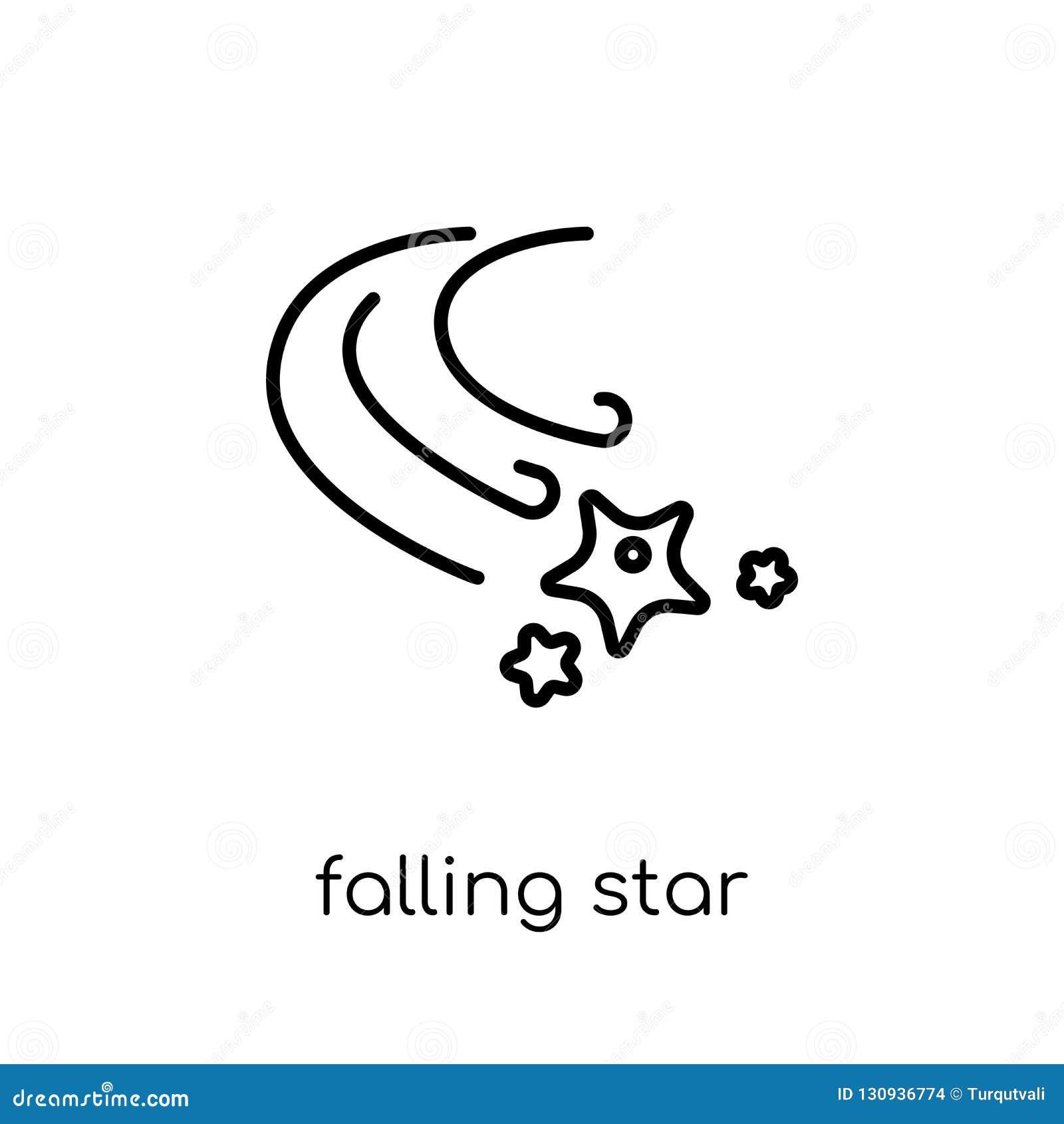 Ícone da estrela de queda da coleção da astronomia