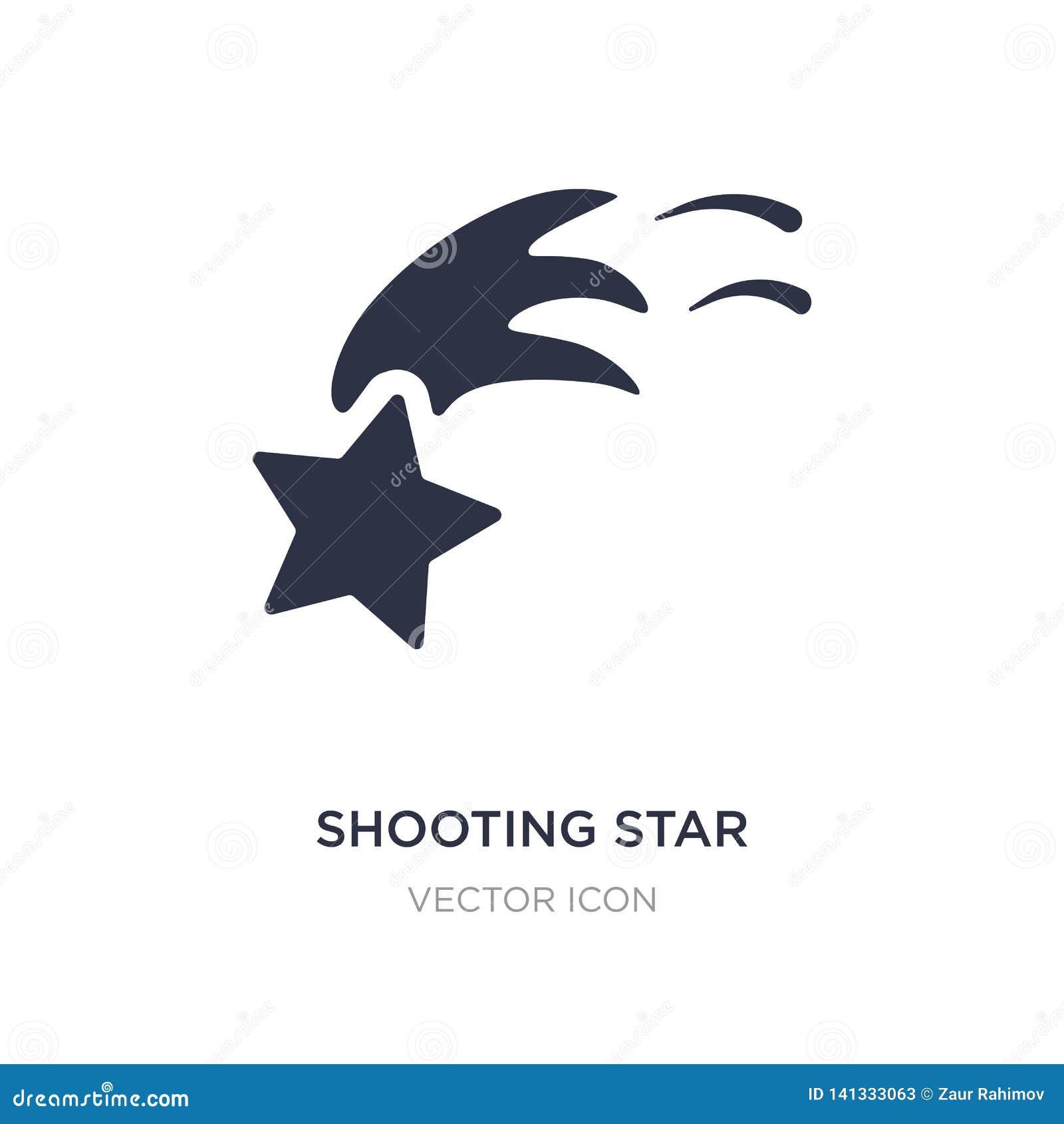 Ícone da estrela de tiro no fundo branco Ilustração simples do elemento do conceito da astronomia