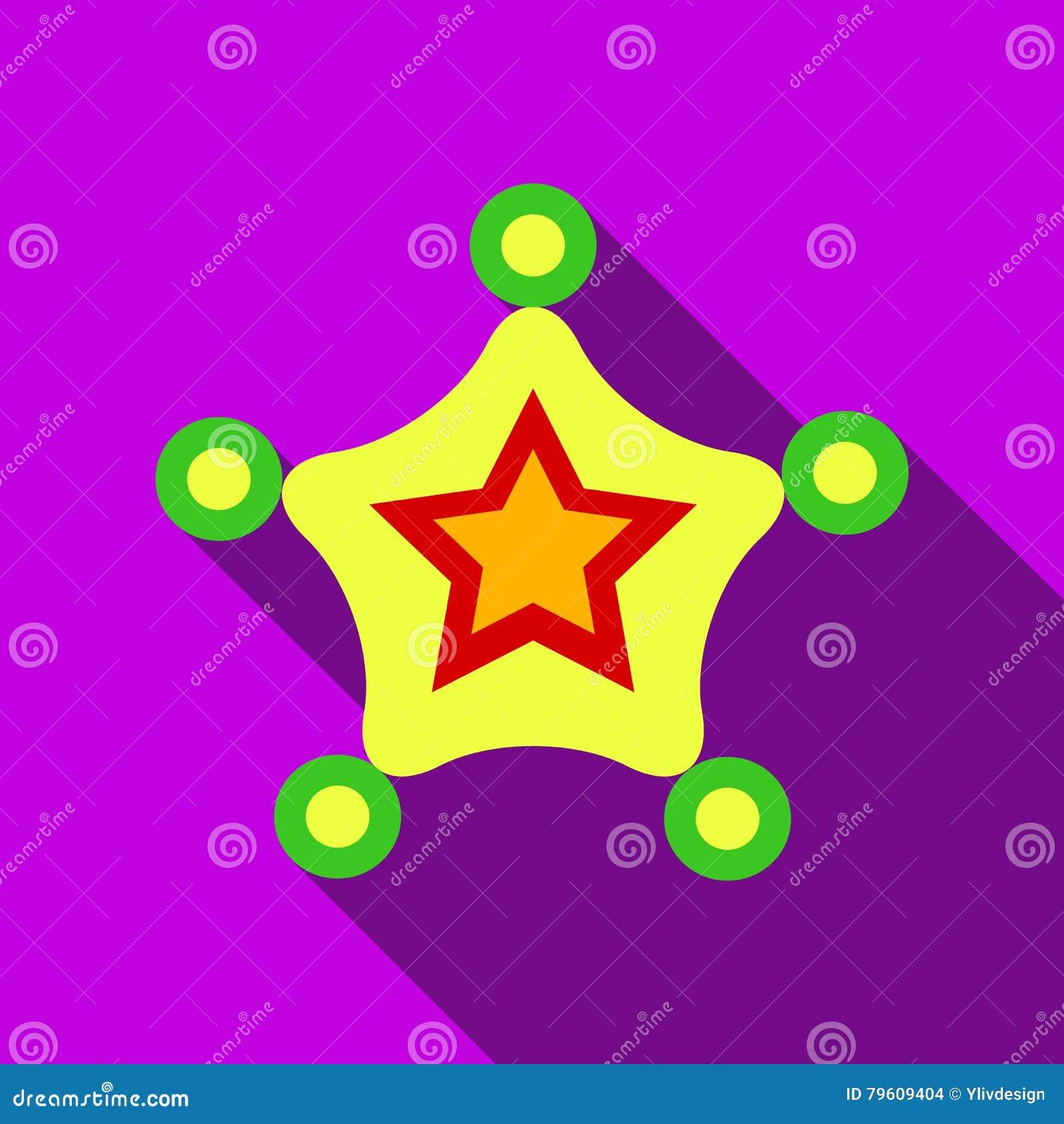 Ícone da estrela do Natal, estilo liso