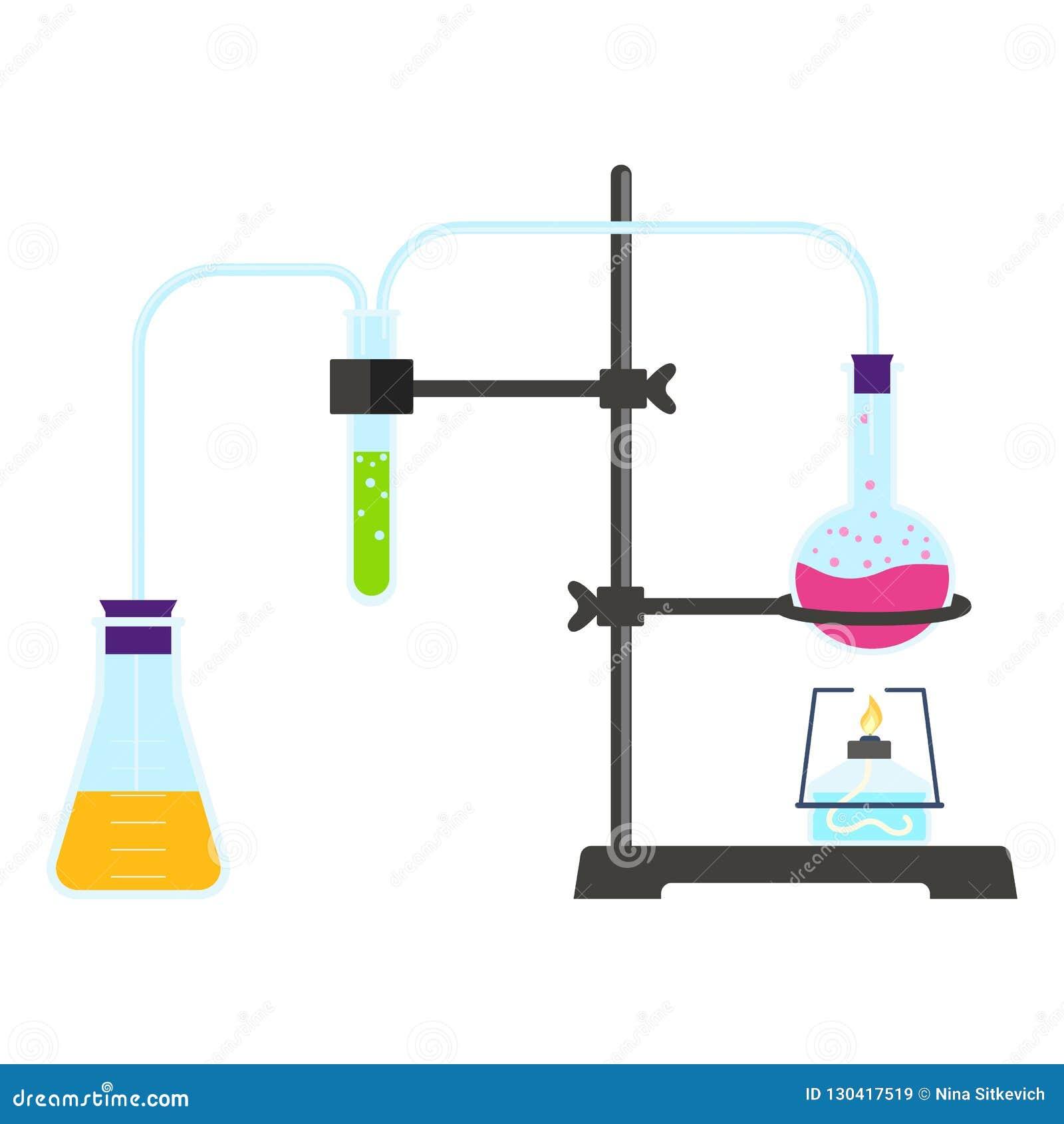 Ícone da experiência do laboratório, estilo liso