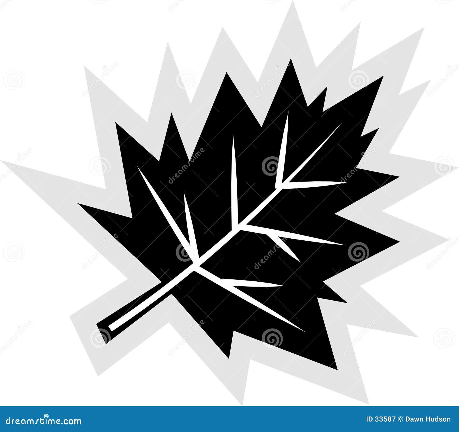 Ícone da folha da queda