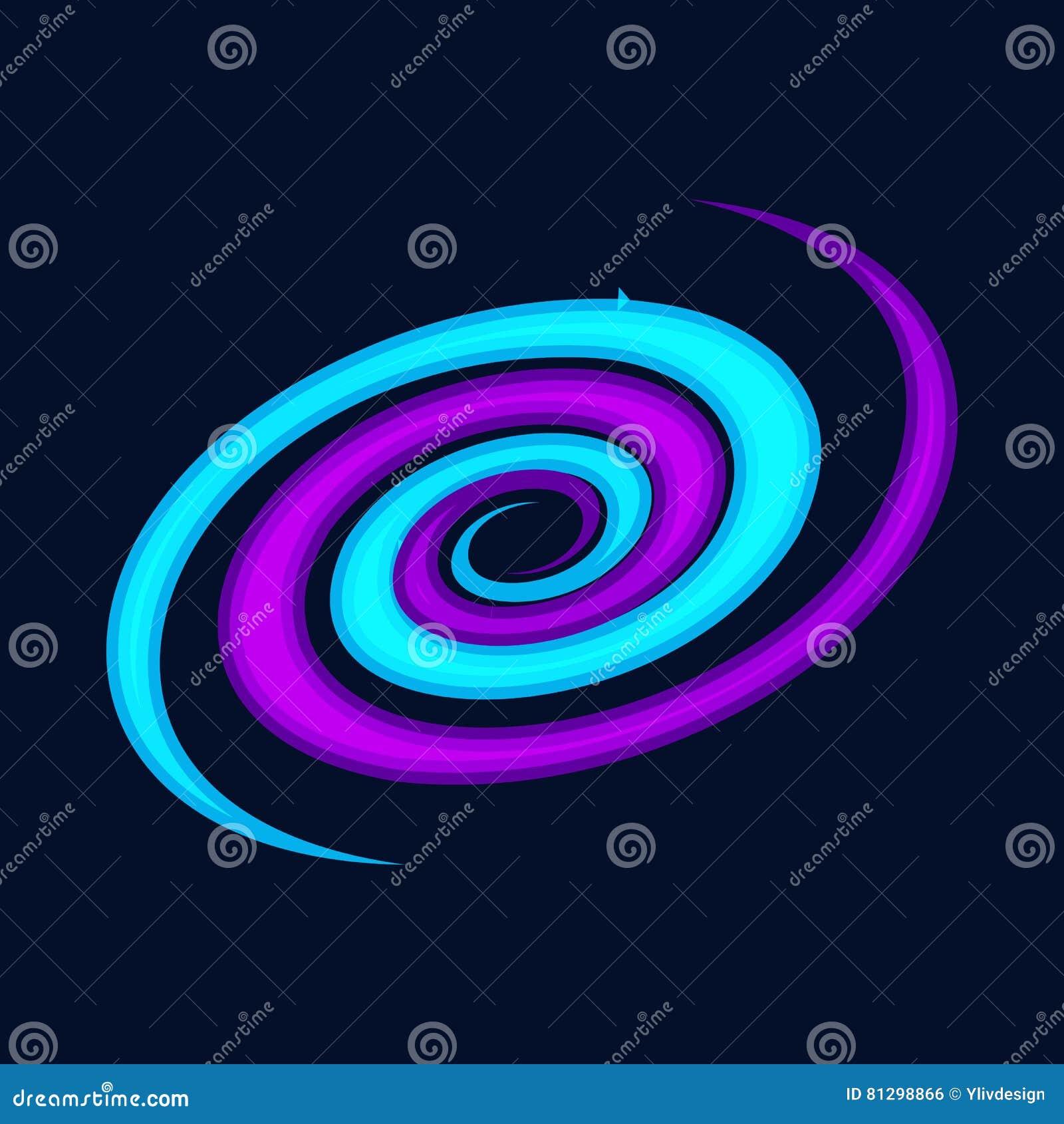 Icone Da Galaxia Espiral Estilo Dos Desenhos Animados Ilustracao