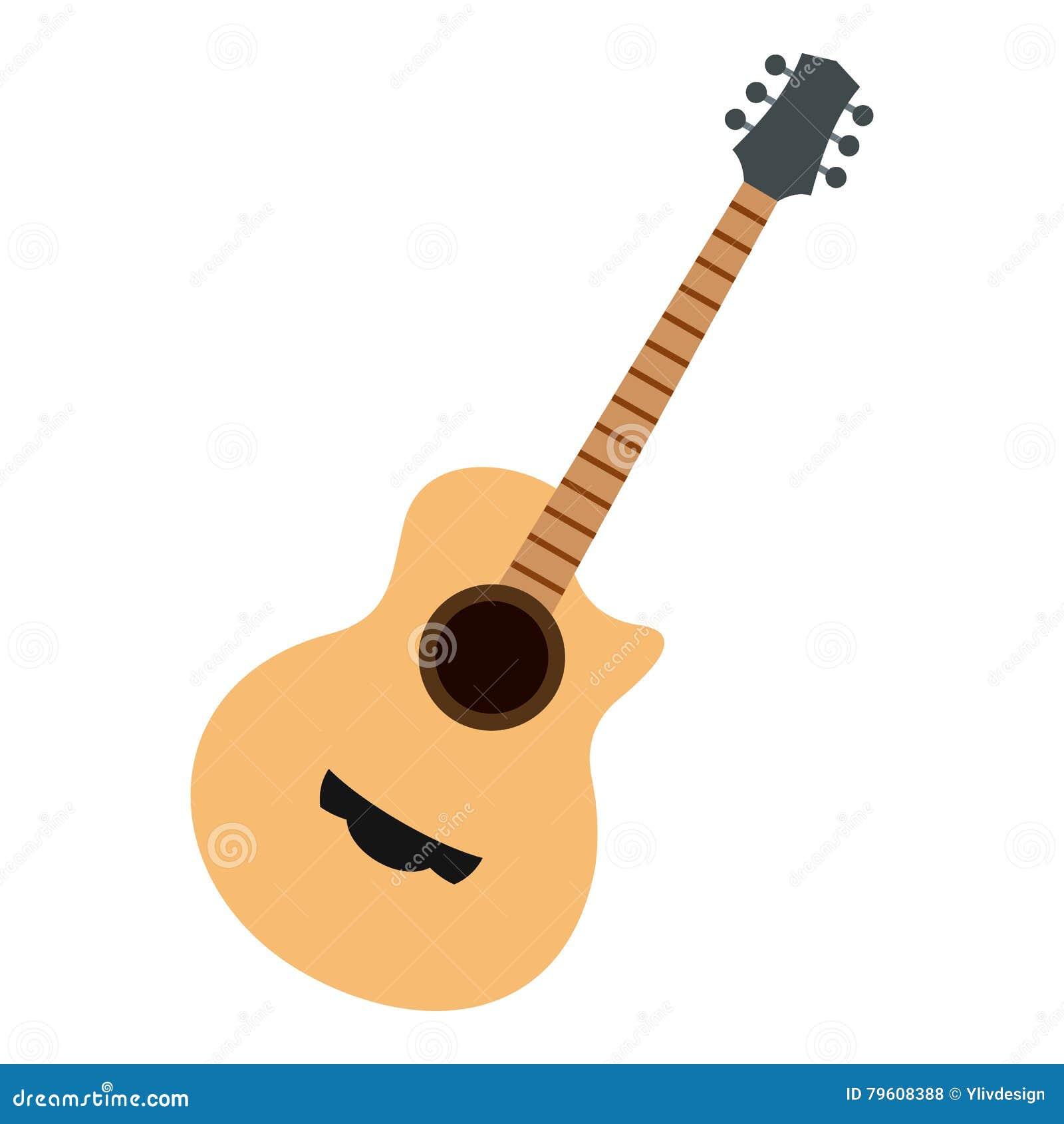 Ícone da guitarra, estilo liso