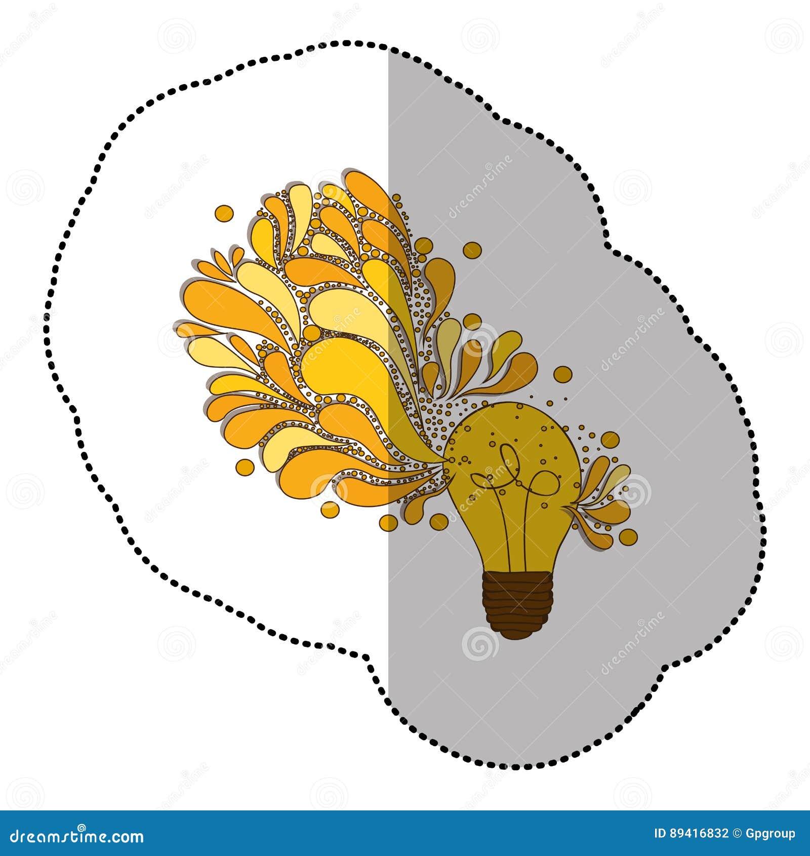 ícone da ideia do cérebro do bulbo
