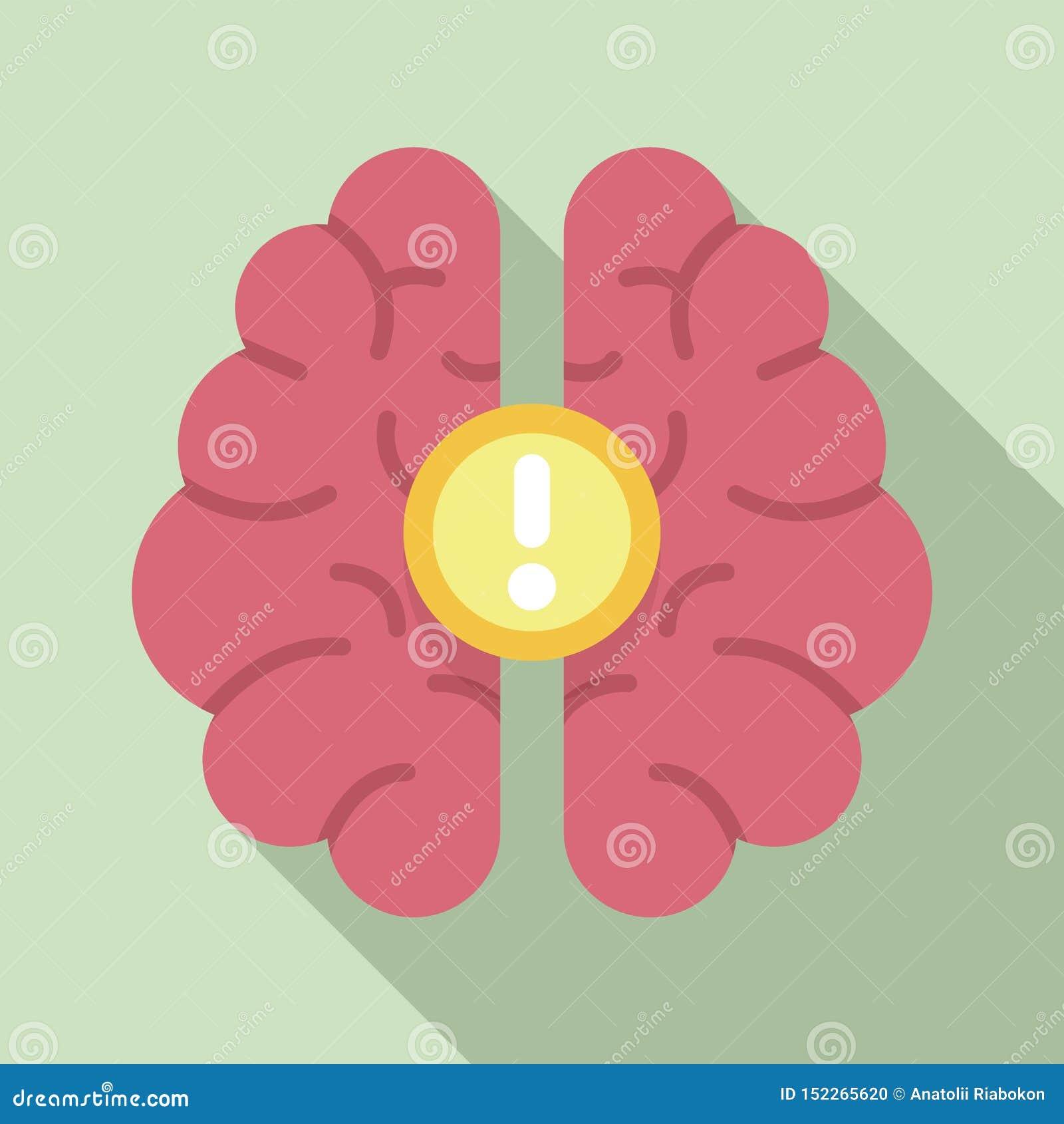 Ícone da ideia do cérebro, estilo liso