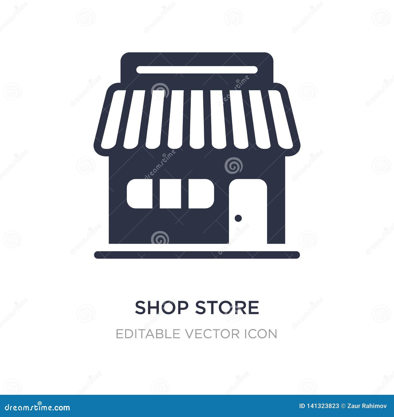 ícone da loja da loja no fundo branco Ilustração simples do elemento do conceito do comércio