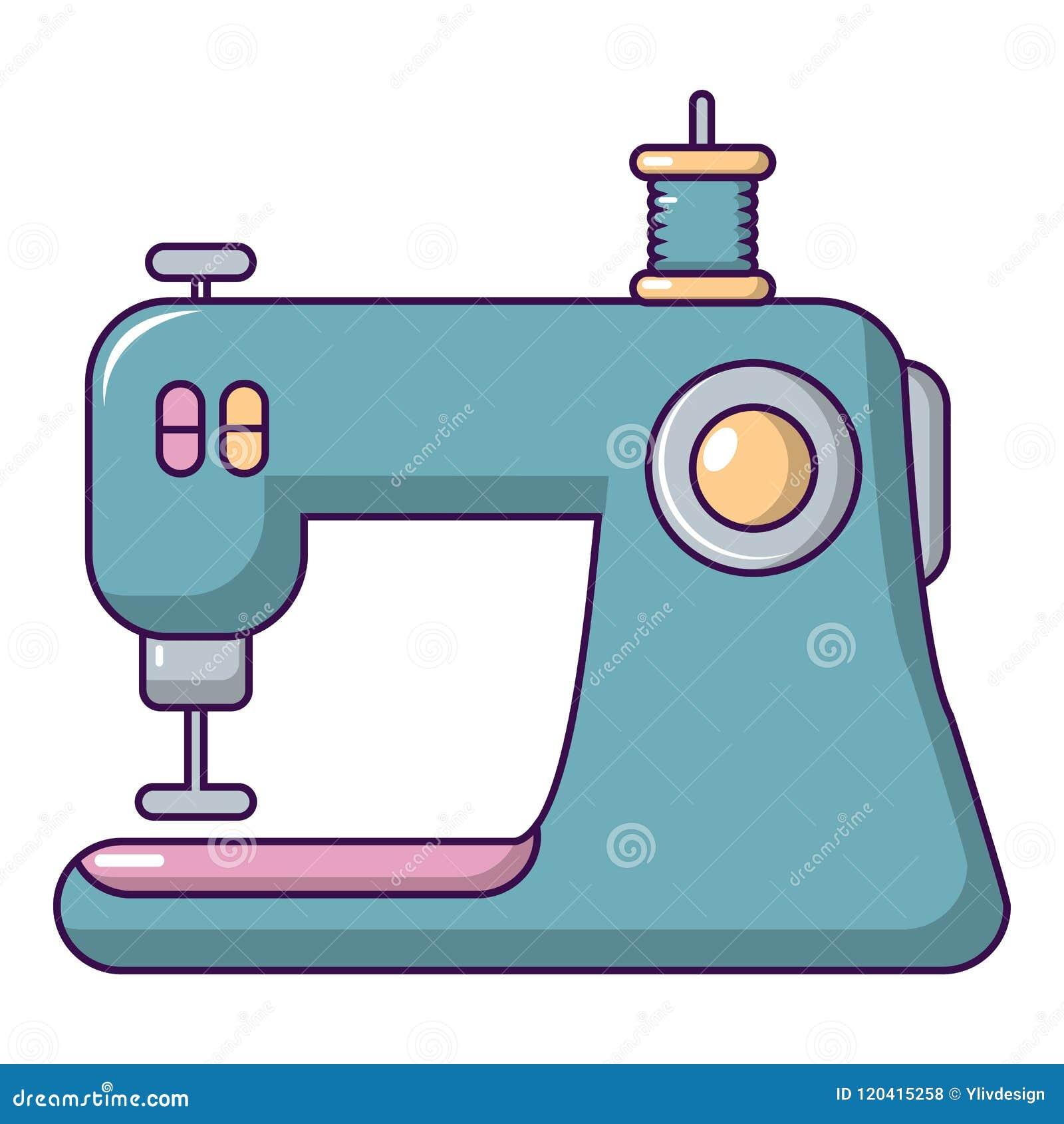 Icone Da Maquina De Costura Estilo Dos Desenhos Animados