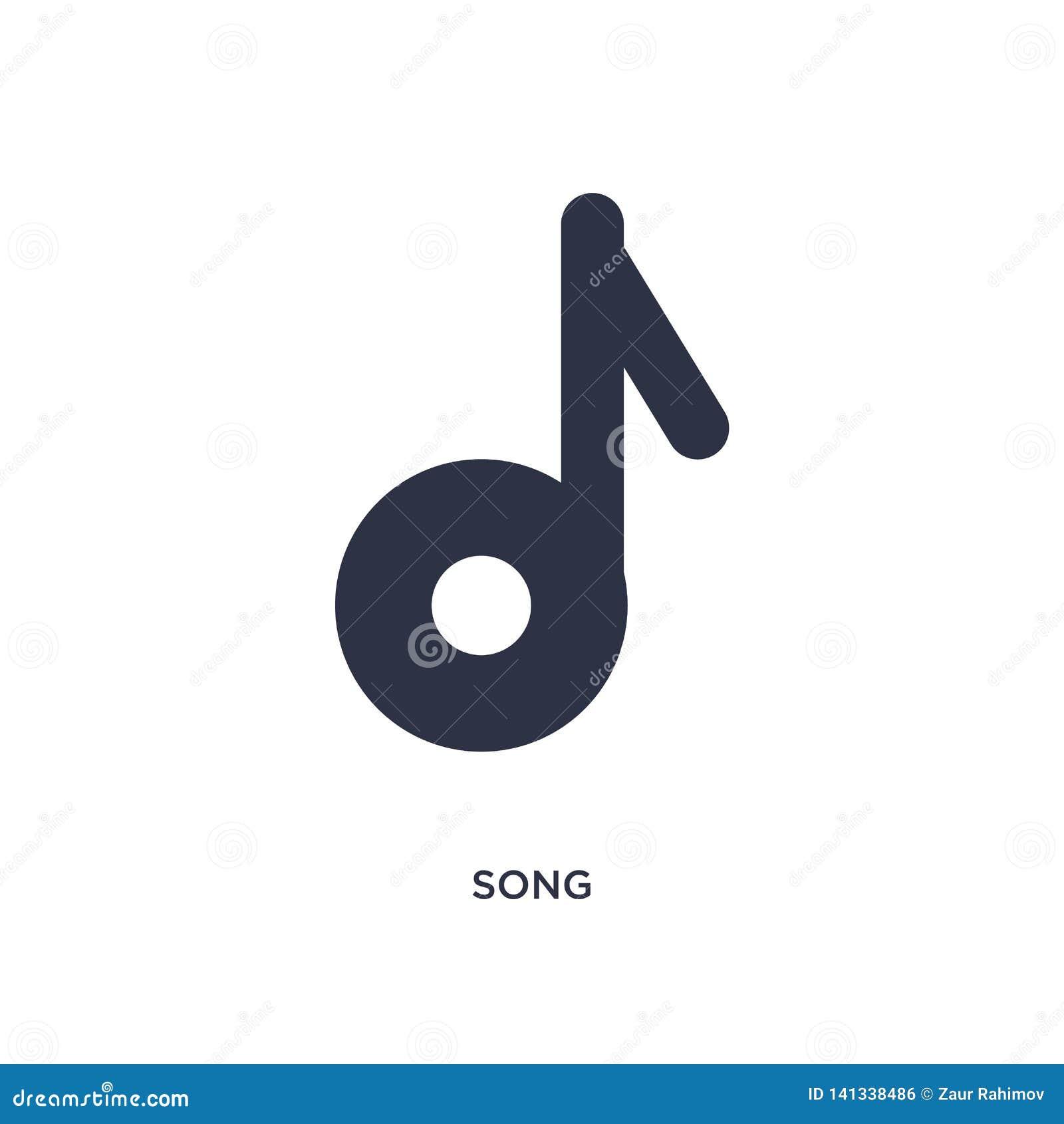 ícone da música no fundo branco Ilustração simples do elemento do conceito da literatura