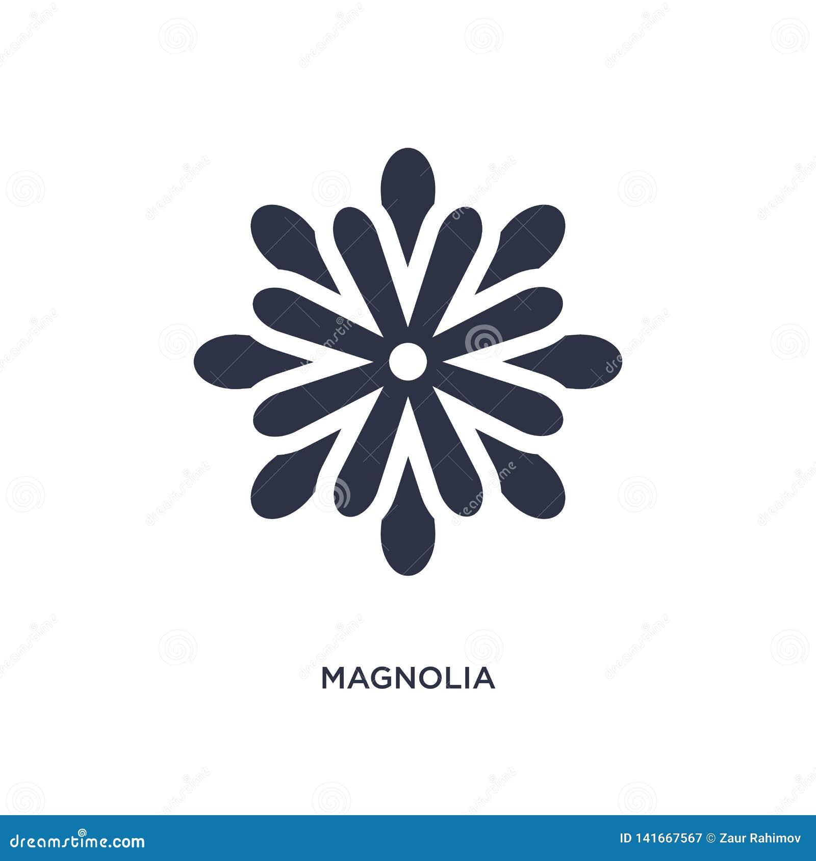 ícone da magnólia no fundo branco Ilustração simples do elemento do conceito da natureza
