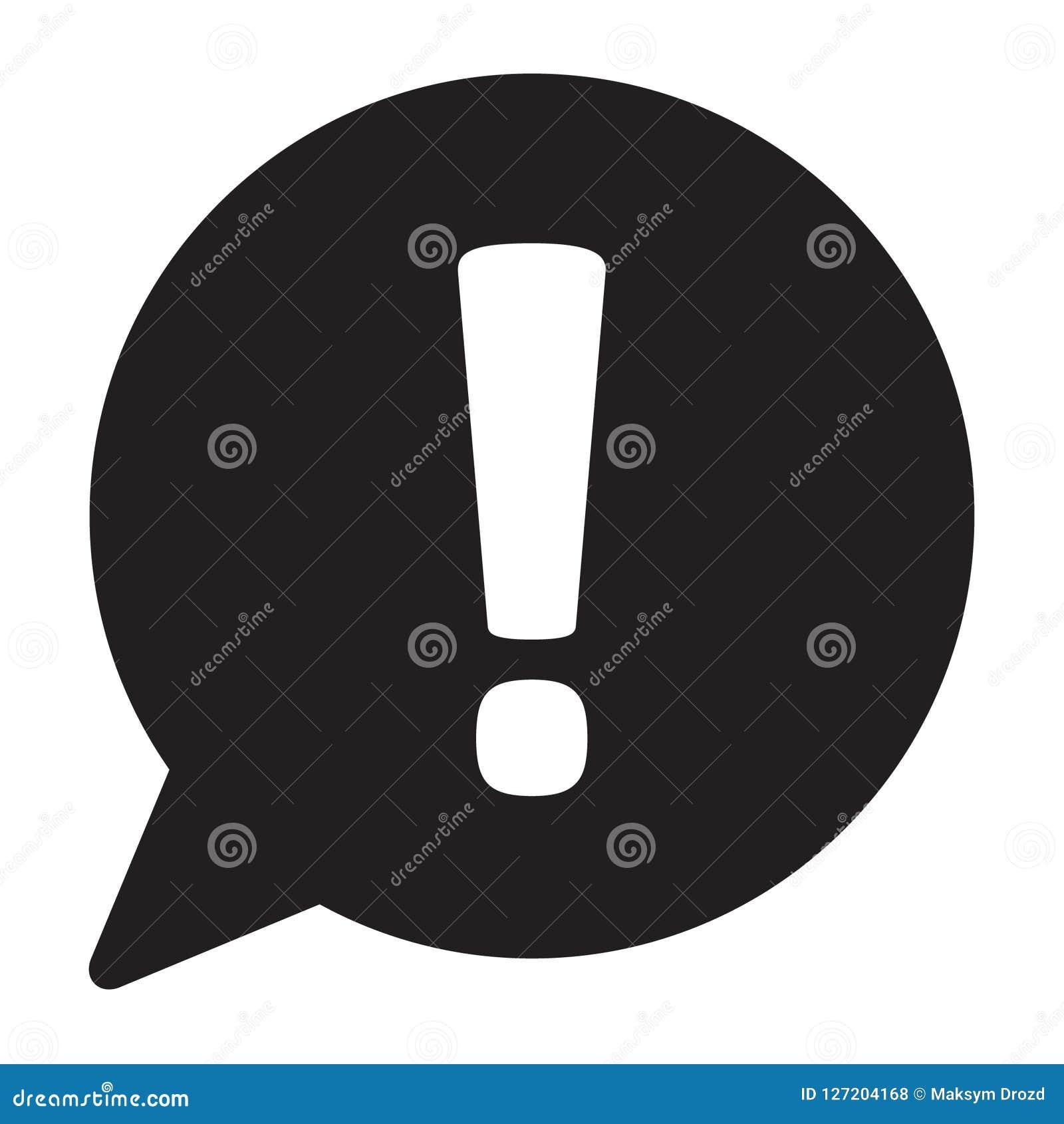 Ícone da marca de exclamação Símbolo de advertência do perigo Ícone do sinal da atenção Vetor
