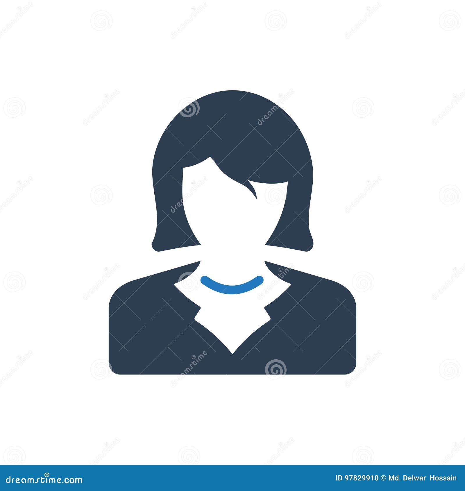 ícone da mulher de negócio