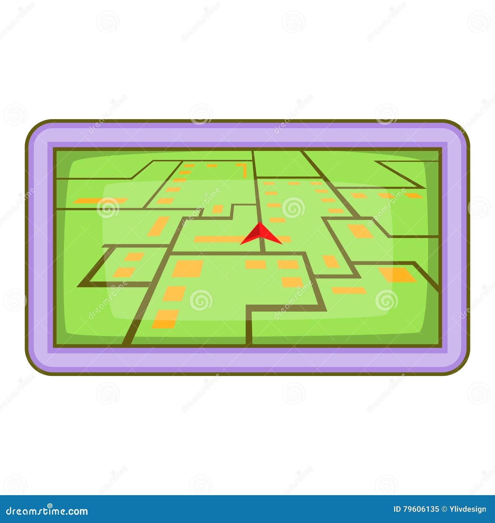 Ícone da navegação de GPS, estilo dos desenhos animados