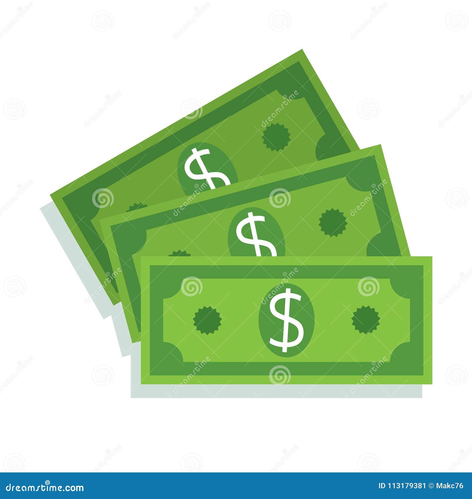 ícone da nota de dólar Dinheiro do dinheiro