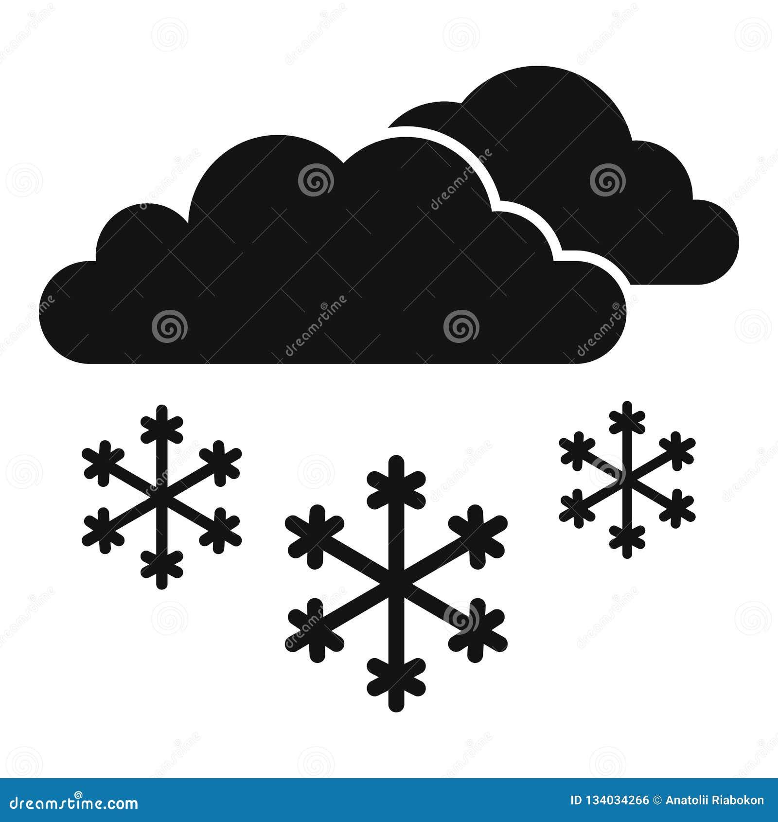 Ícone da nuvem da neve, estilo simples