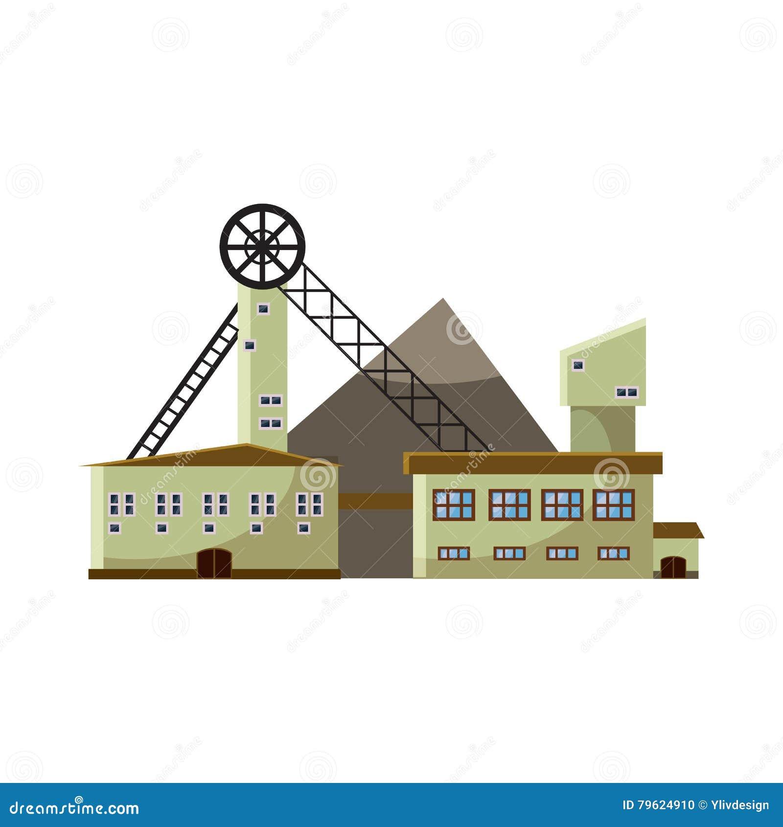 Ícone da planta de produção, estilo dos desenhos animados