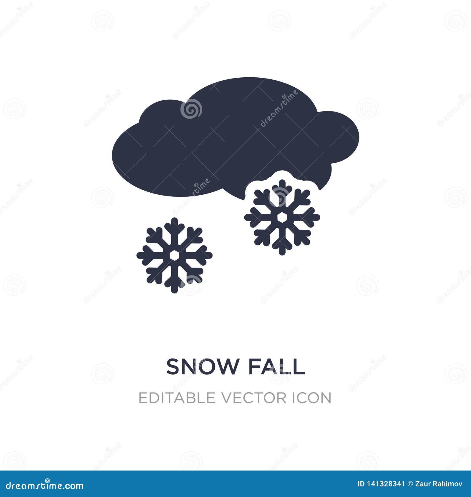 ícone da queda da neve no fundo branco Ilustração simples do elemento do conceito do tempo
