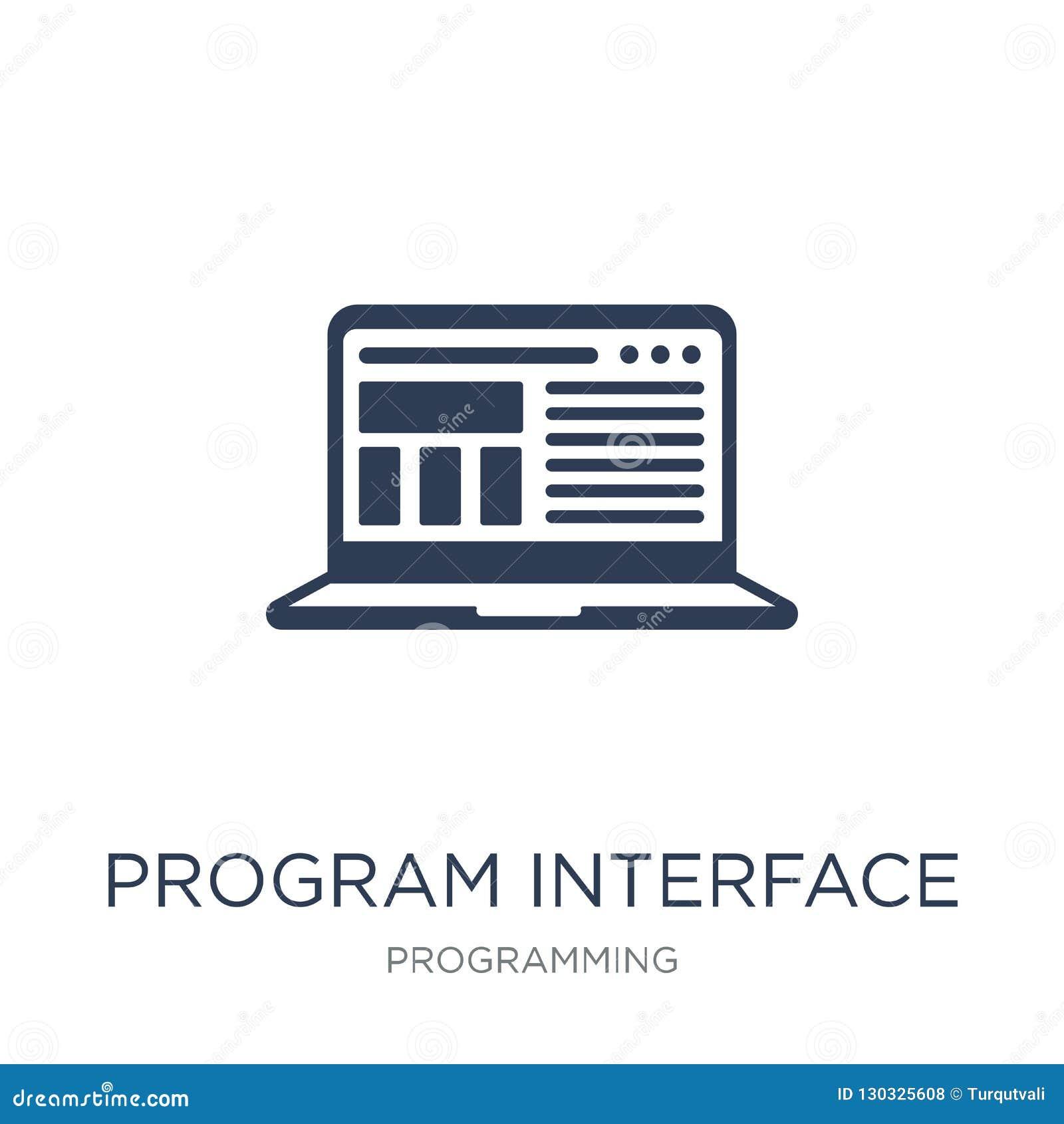 Ícone da relação do programa Ico liso na moda da relação do programa do vetor