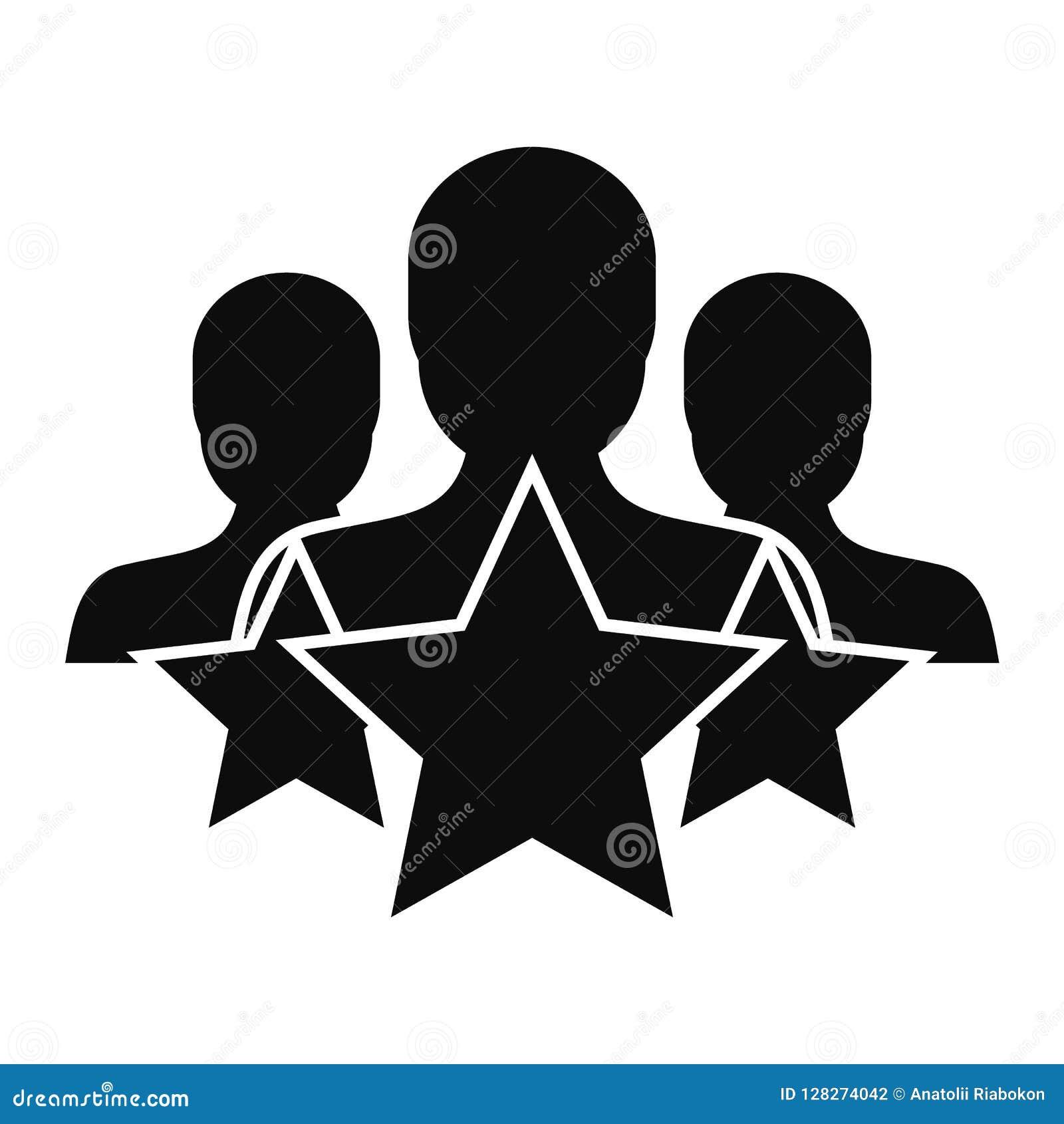 Ícone da retenção do cliente da estrela, estilo simples