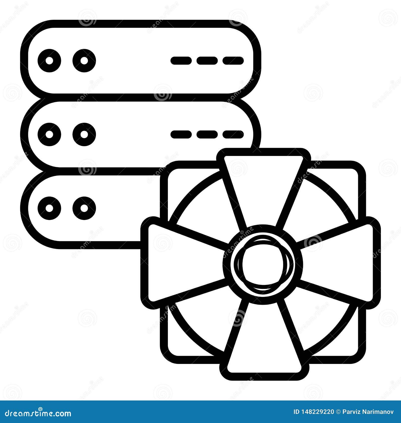 Ícone da segurança, ícone da proteção do servidor