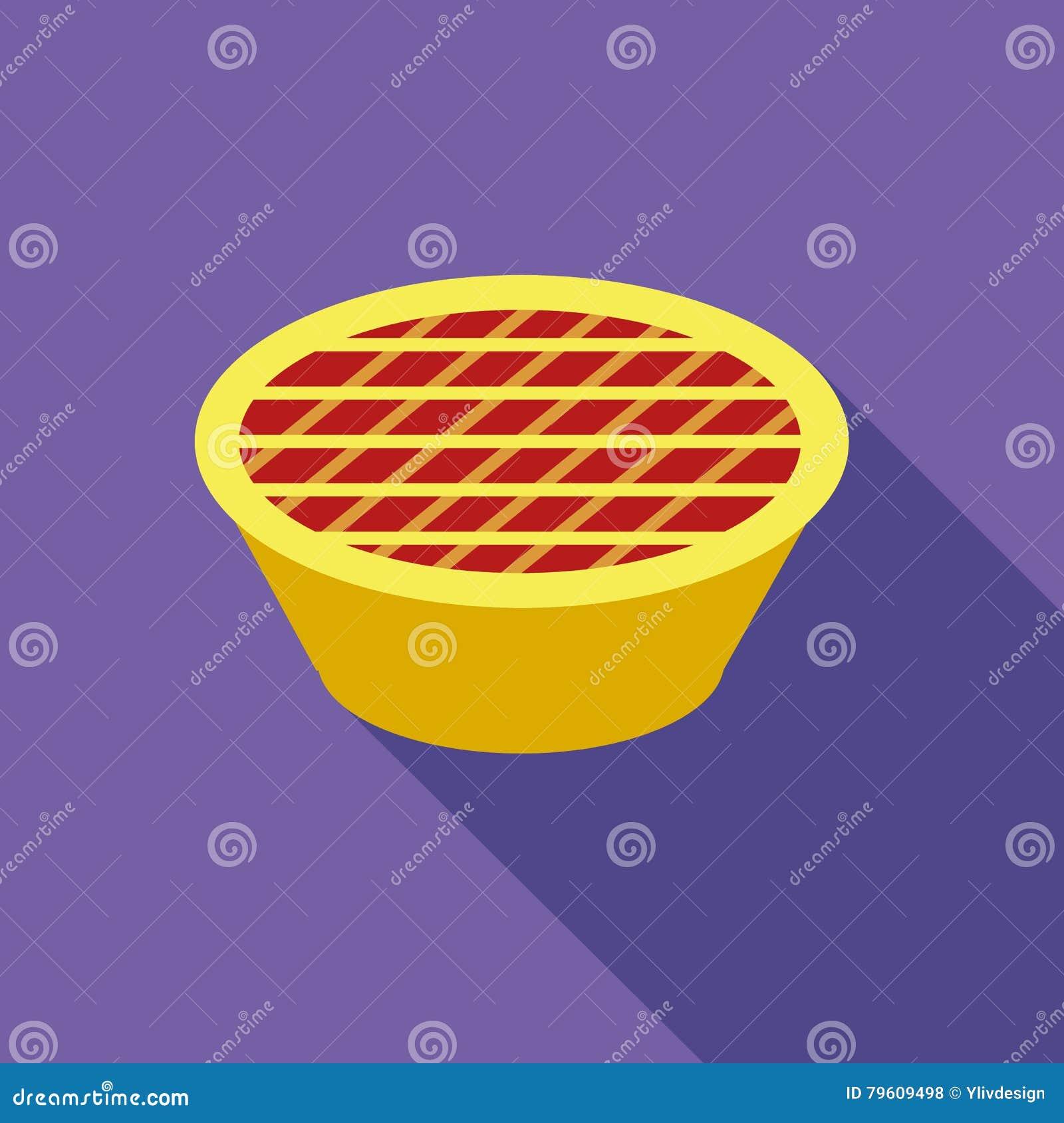 Ícone da torta da ação de graças, estilo liso
