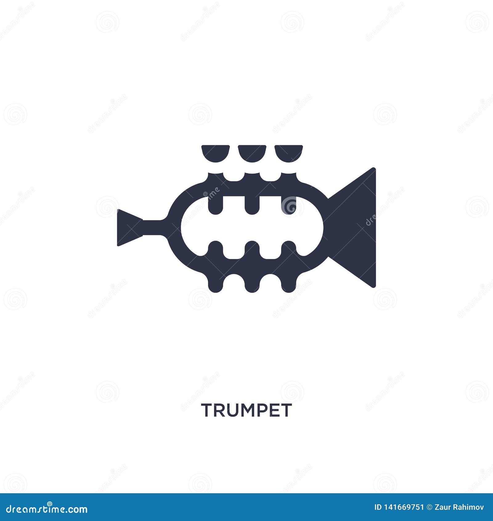 ícone da trombeta no fundo branco Ilustração simples do elemento do conceito do brazilia