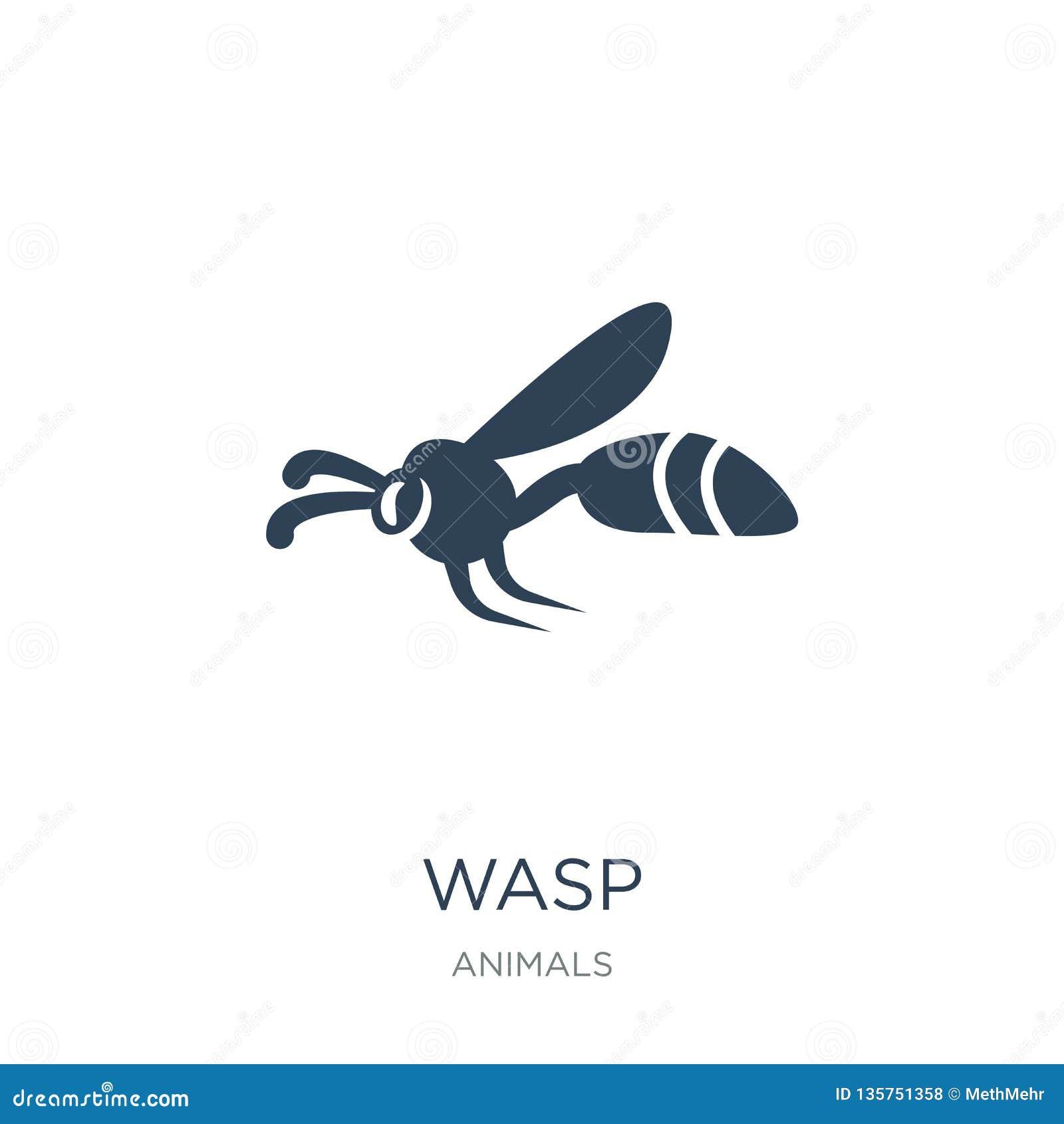 ícone da vespa no estilo na moda do projeto ícone da vespa isolado no fundo branco símbolo liso simples e moderno do ícone do vet