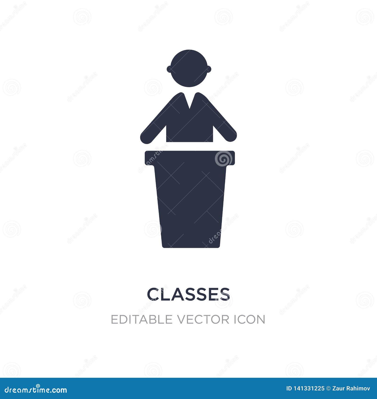 ícone das classes no fundo branco Ilustração simples do elemento do conceito dos povos