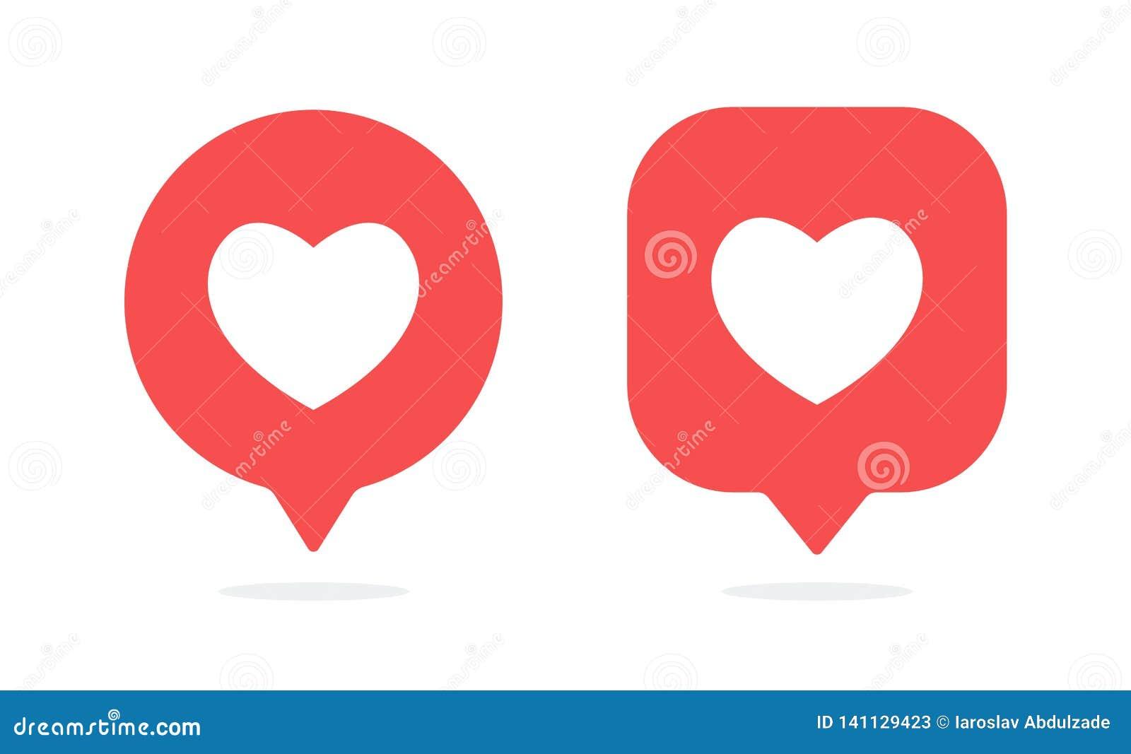 Ícone das notificações Como o vetor do ícone Os meios sociais gostam do ícone