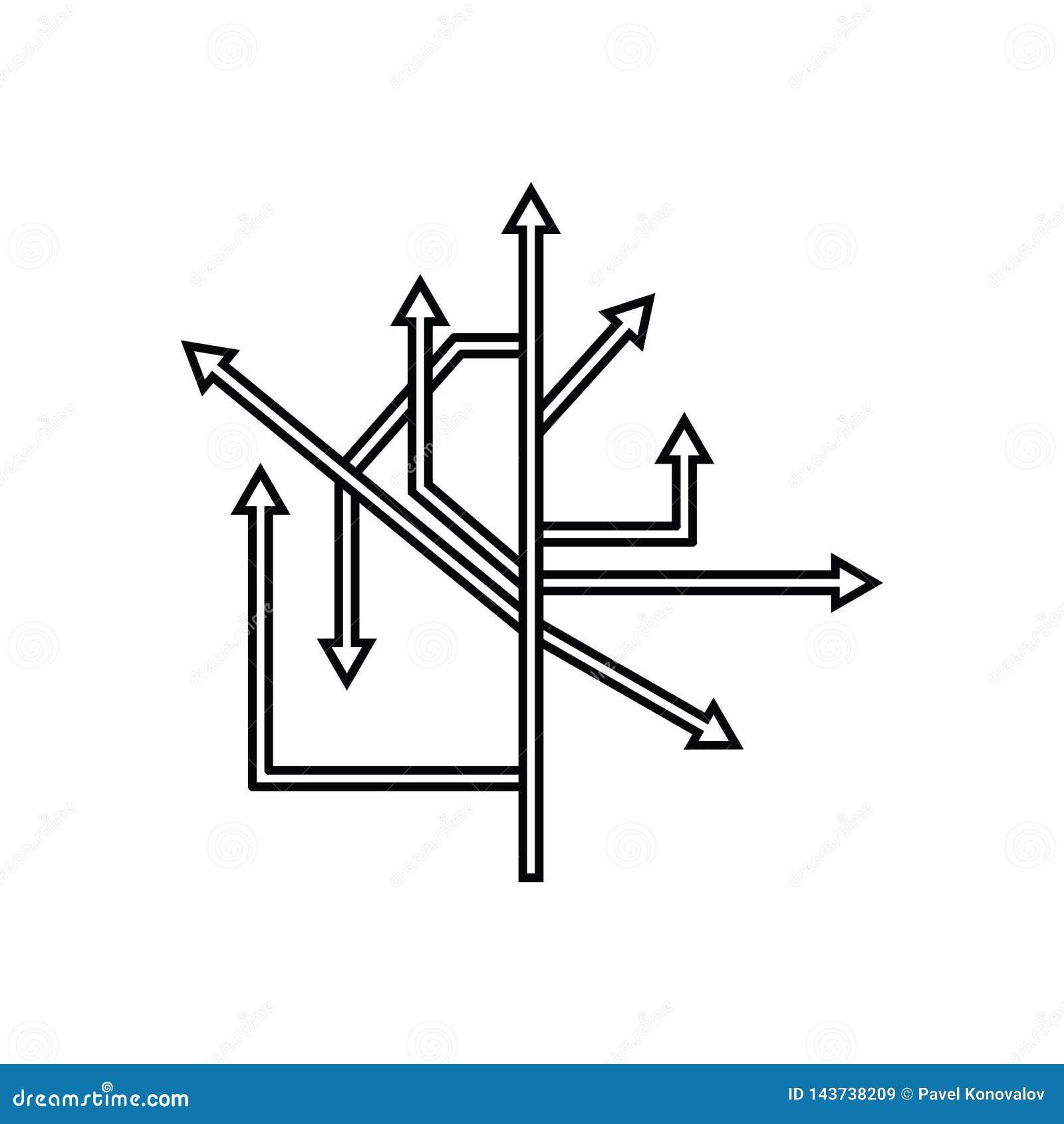 ícone das setas do sentido