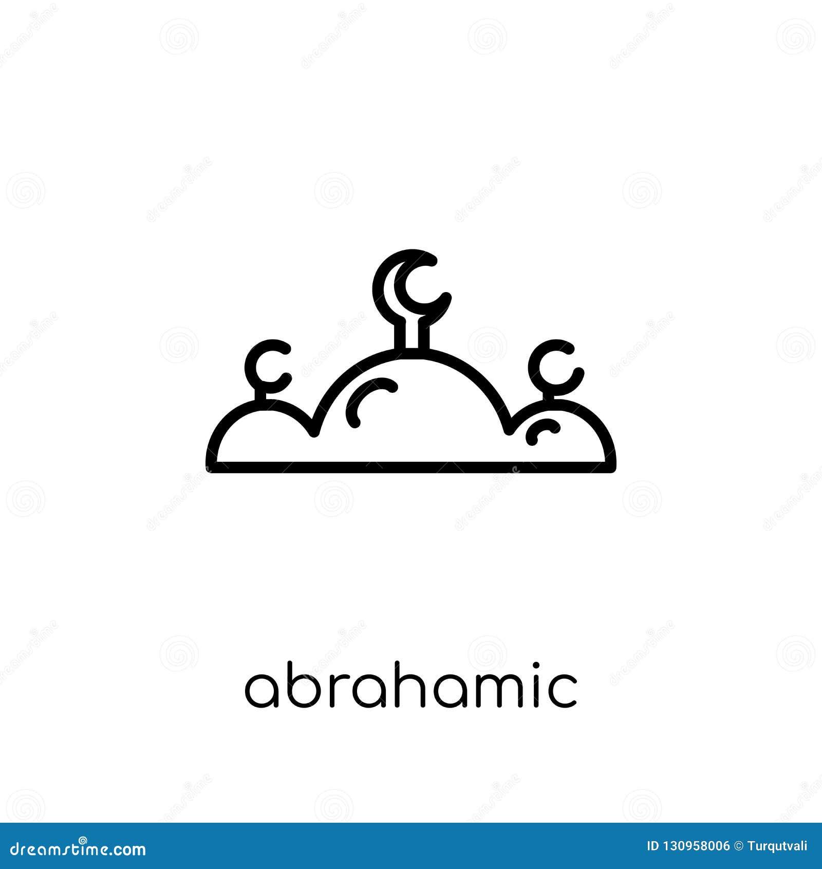 Ícone de Abrahamic Ícone linear liso moderno na moda de Abrahamic do vetor