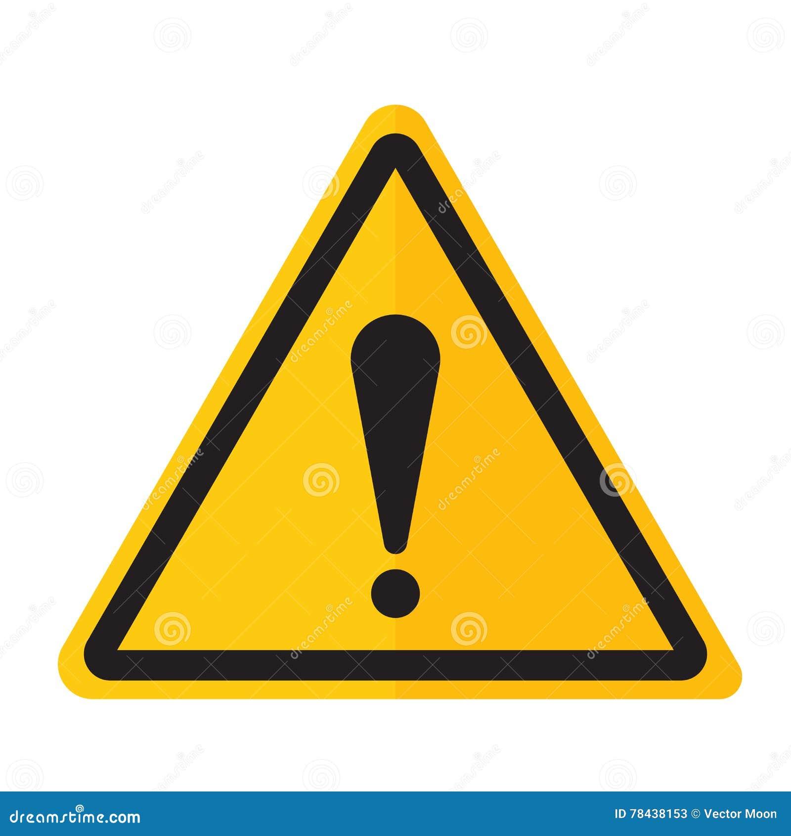 Ícone de advertência do sinal do ponto de exclamação do perigo