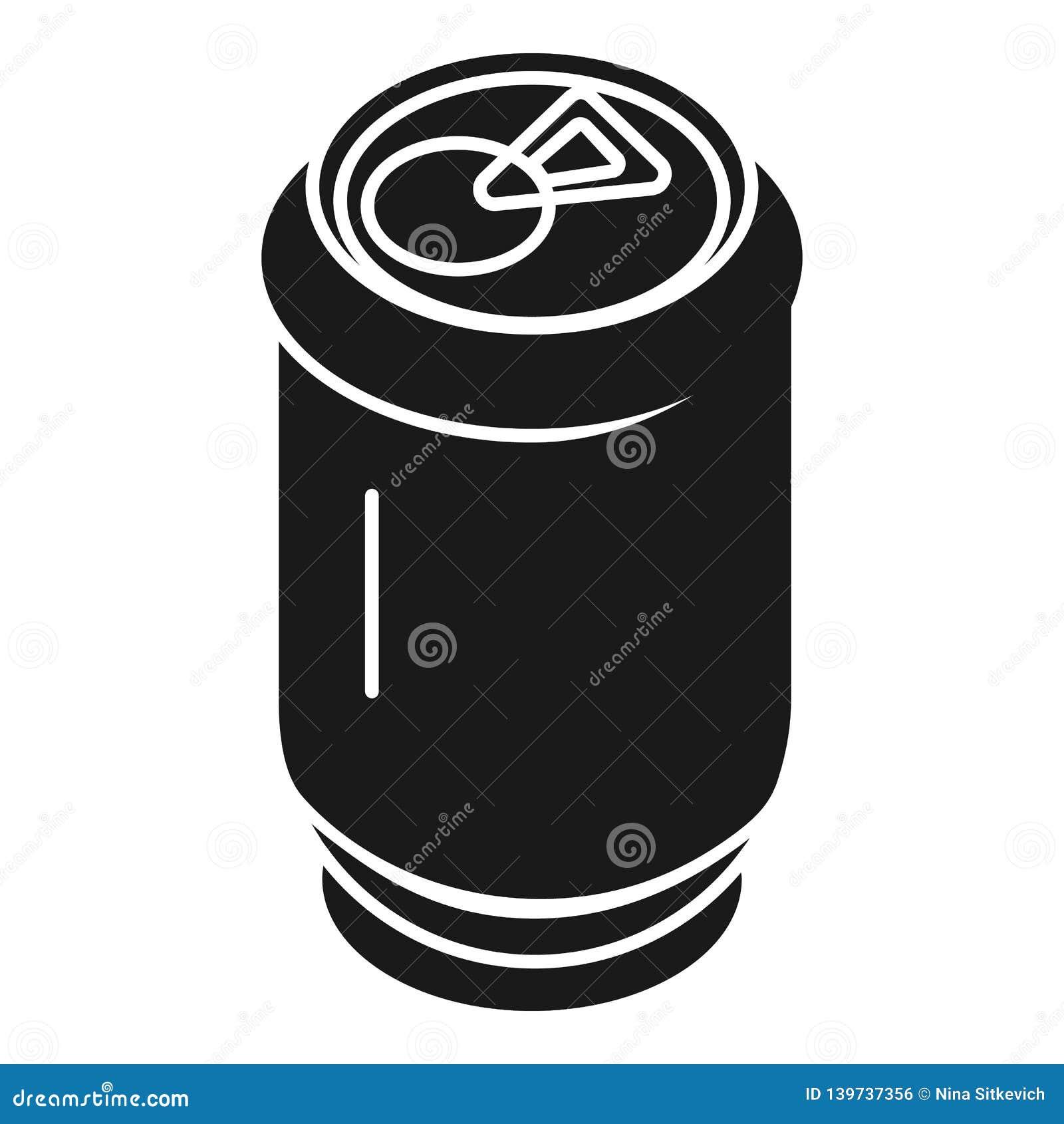 Ícone de alumínio da lata de soda, estilo simples