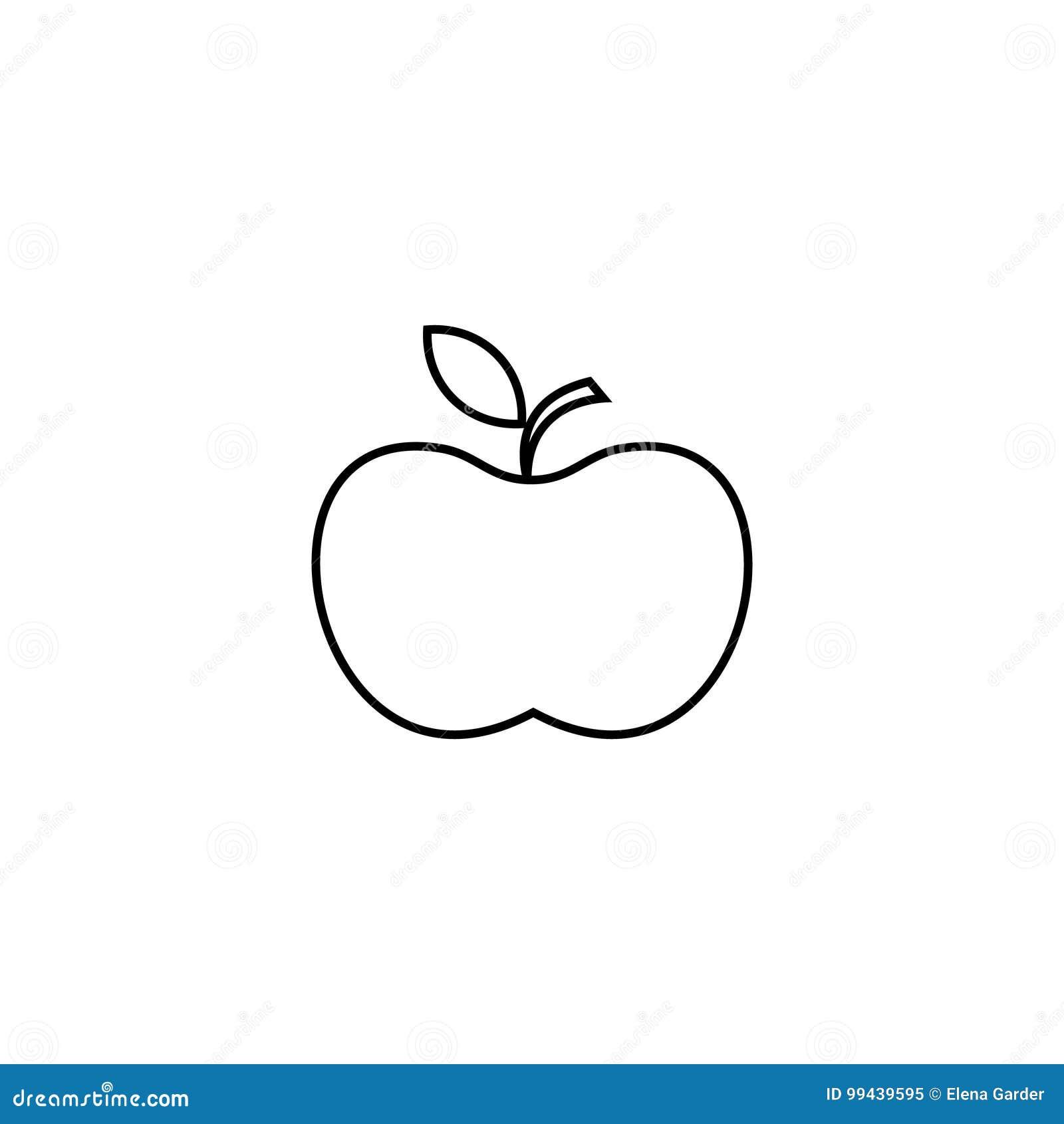 ícone De Apple Alinhe O ícone Para Infographic O Web Site Ou O App